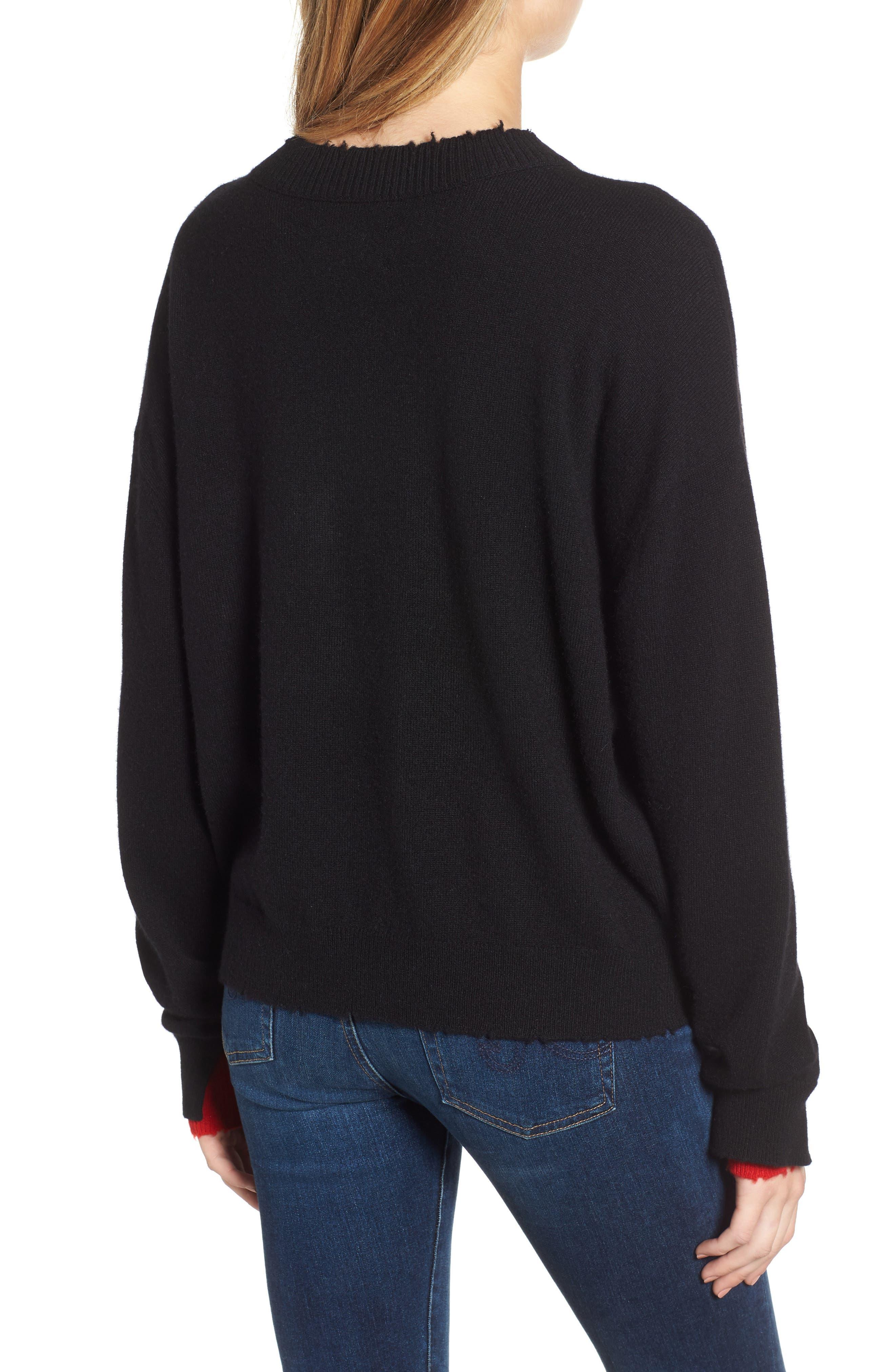 Gaby Cashmere Sweater,                             Alternate thumbnail 2, color,                             NOIR