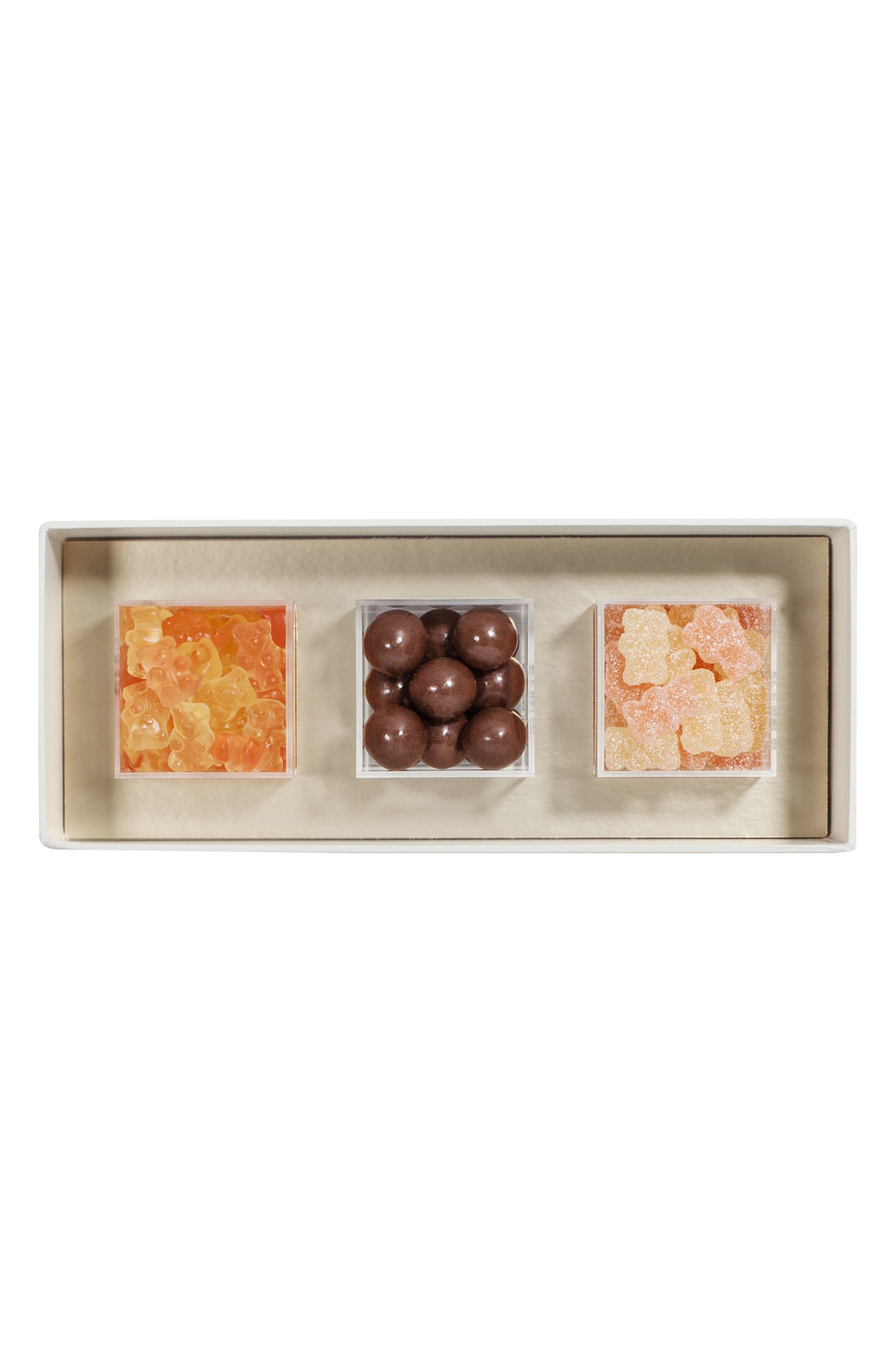 Sweet & Sparkling Set of 3 Candy Boxes,                             Alternate thumbnail 4, color,                             METALLIC GOLD