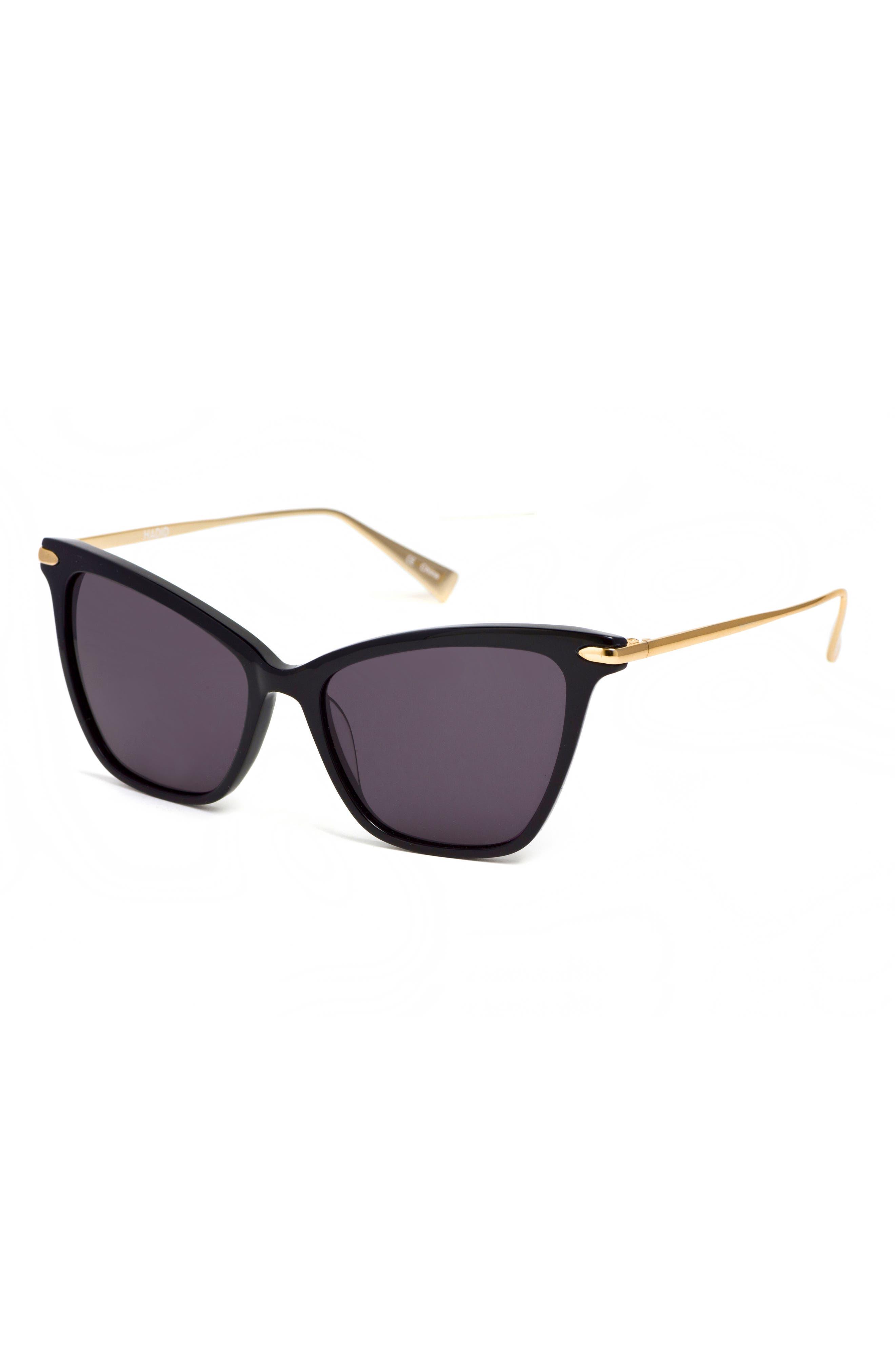 Jetsetter 55mm Cat Eye Sunglasses,                             Alternate thumbnail 4, color,                             001