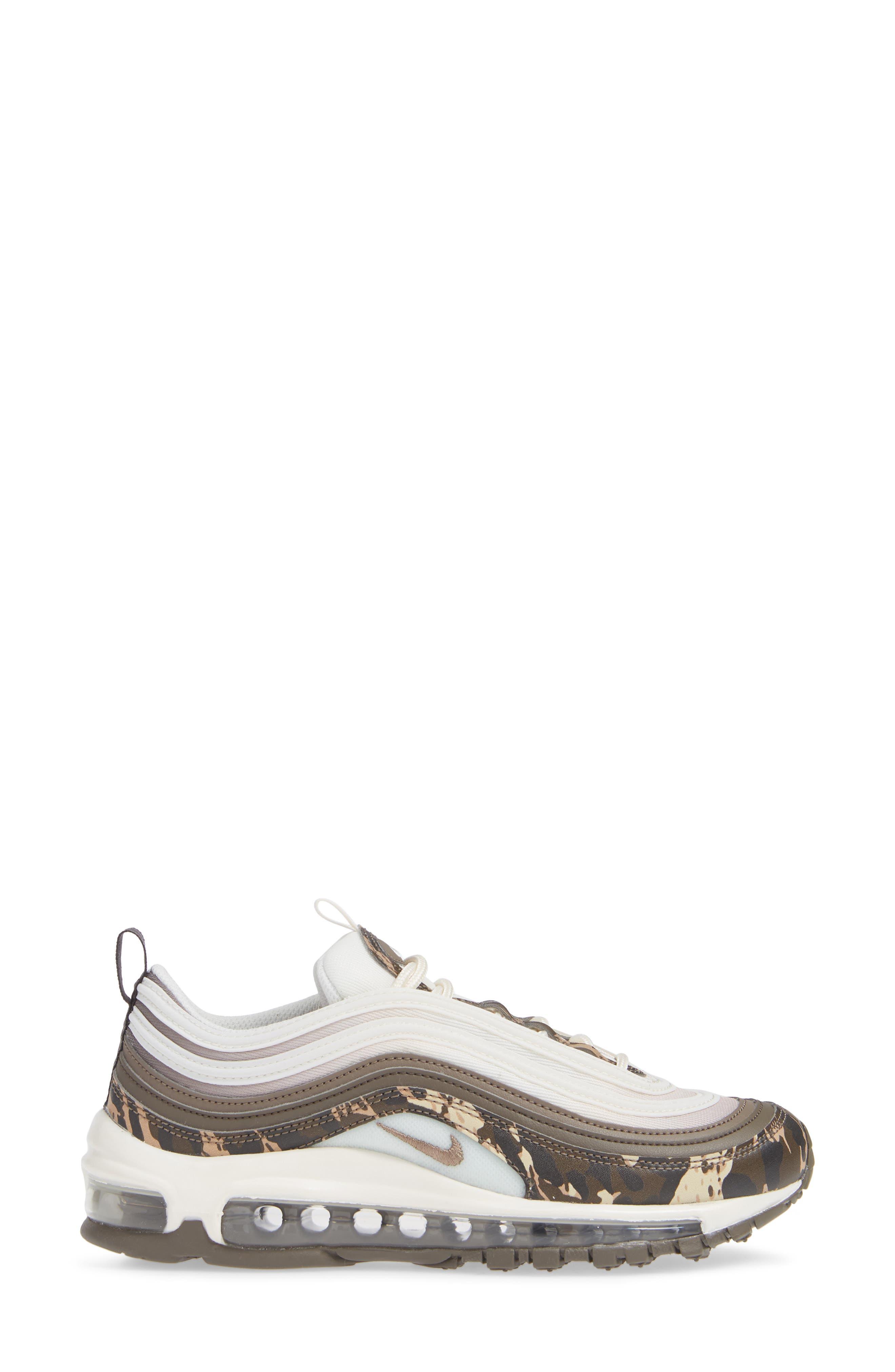 Air Max 97 Premium Sneaker,                             Alternate thumbnail 3, color,                             BROWN/ PHANTOM