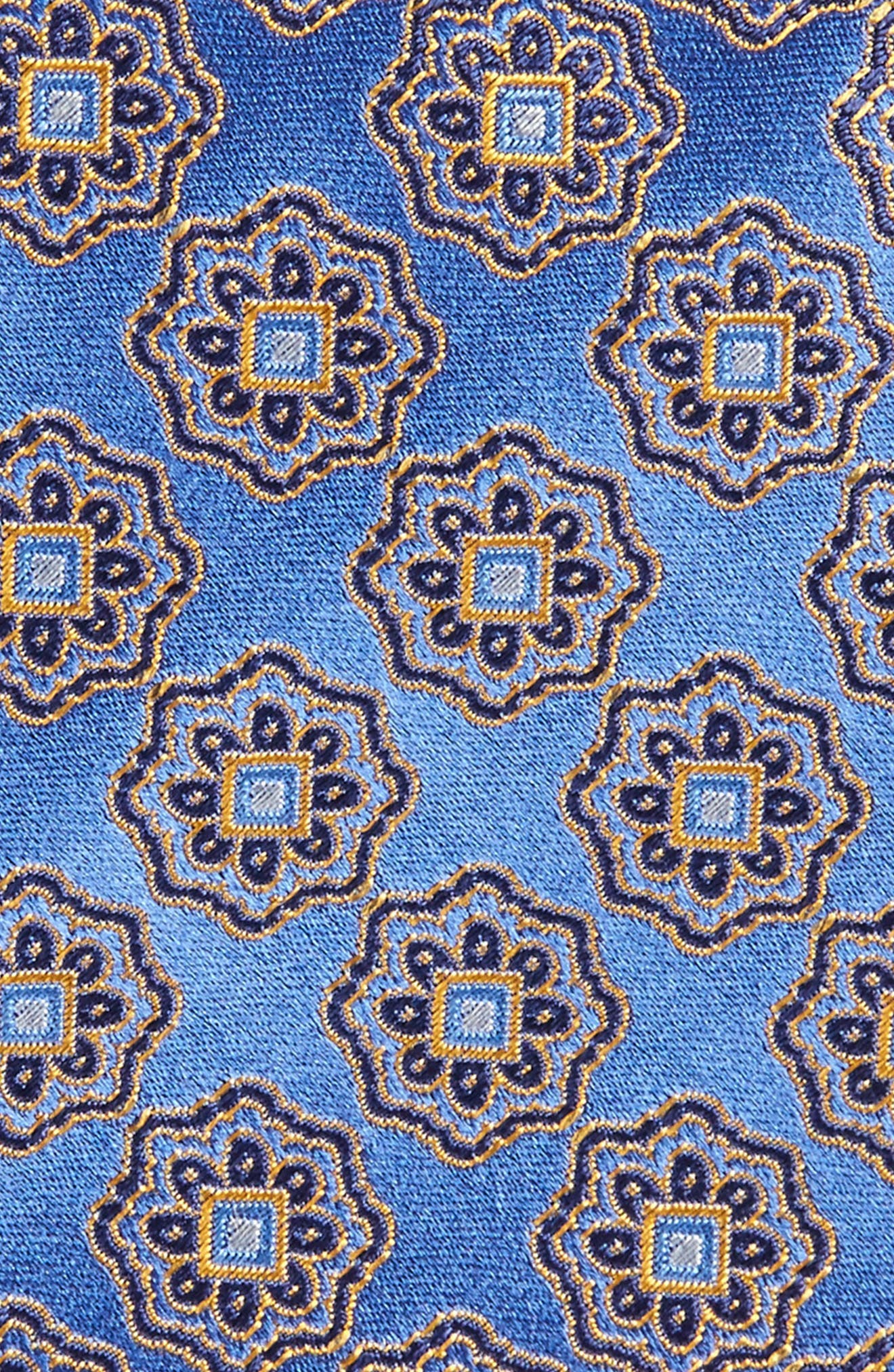 Medallion Silk Tie,                             Alternate thumbnail 2, color,                             410
