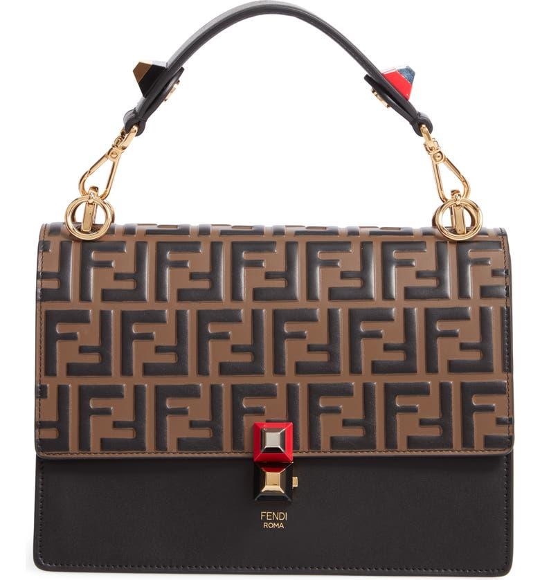 c04400a9dd2c Fendi Kan I Liberty Leather Shoulder Bag
