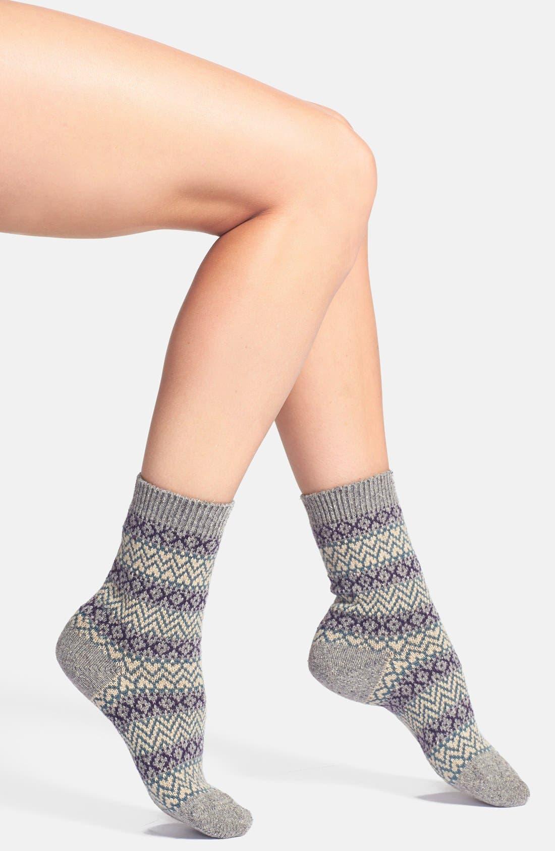 Scott-Nichol 'Rosedale Fair Isle' Wool Blend Socks,                             Main thumbnail 1, color,                             026