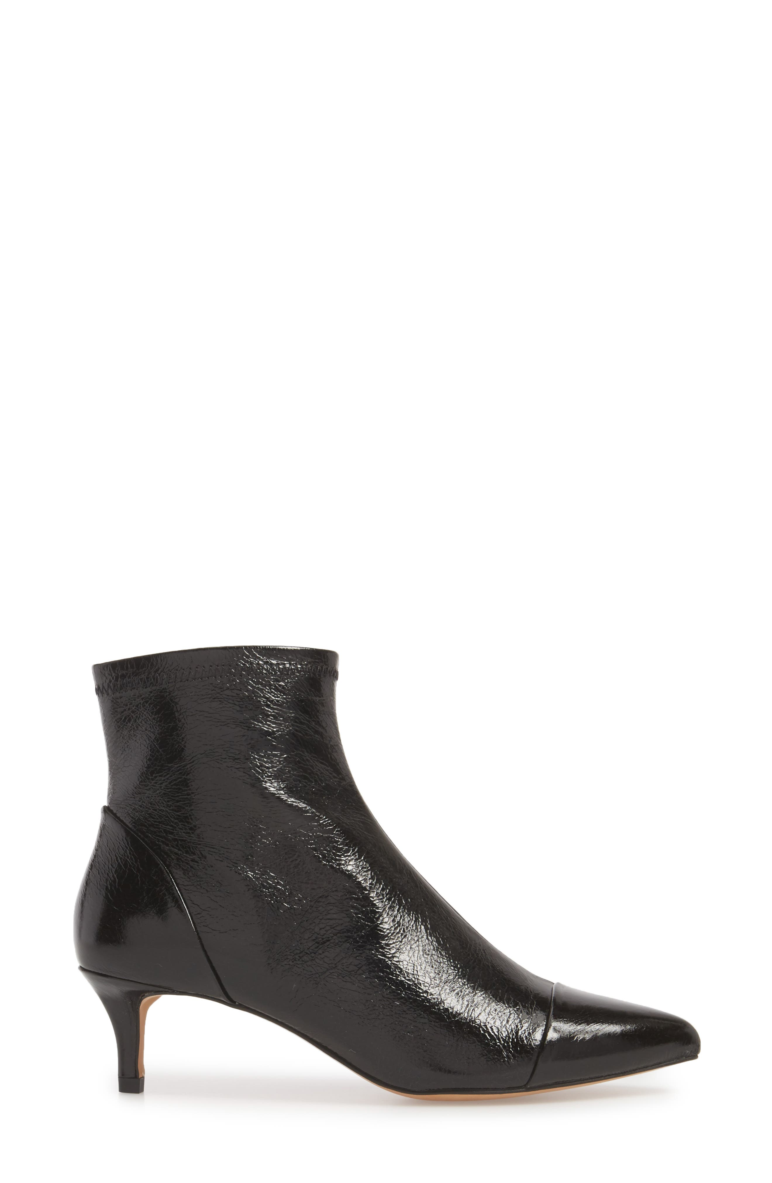 Siya Bootie,                             Alternate thumbnail 3, color,                             BLACK LEATHER