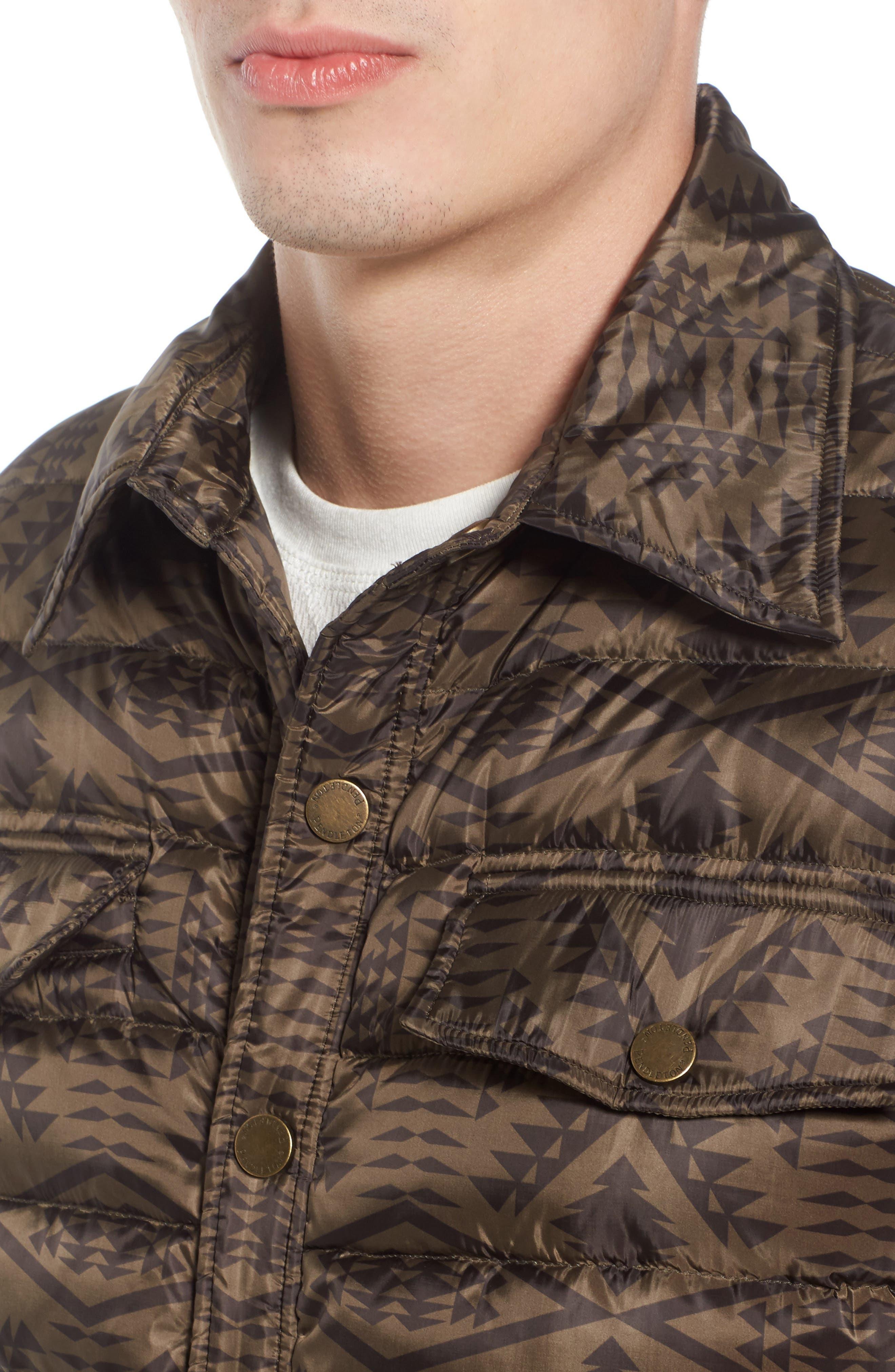 Moab Water Resistant Down Shirt Jacket,                             Alternate thumbnail 4, color,                             342