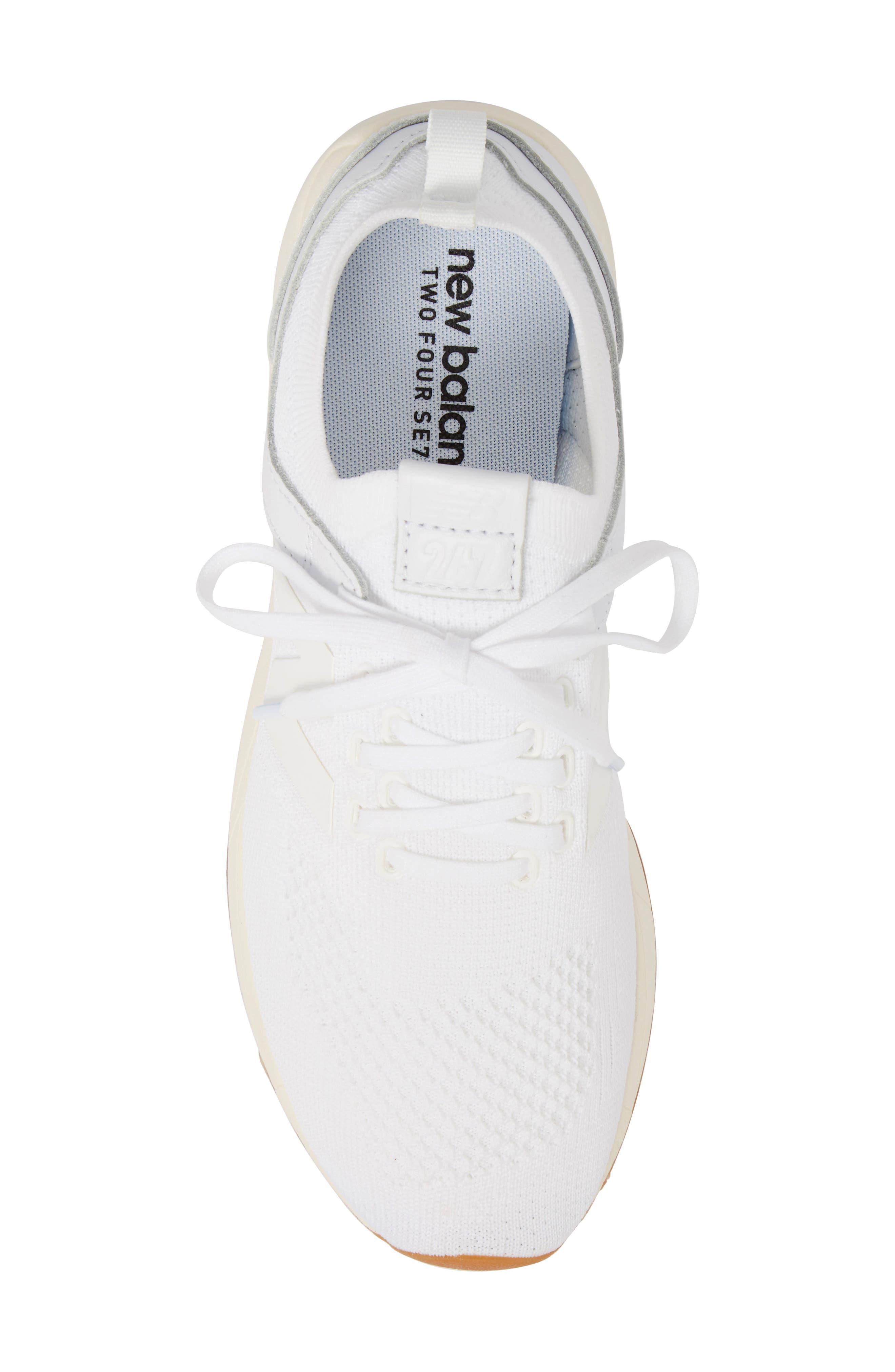 247 Decon Knit Sneaker,                             Alternate thumbnail 5, color,                             WHITE