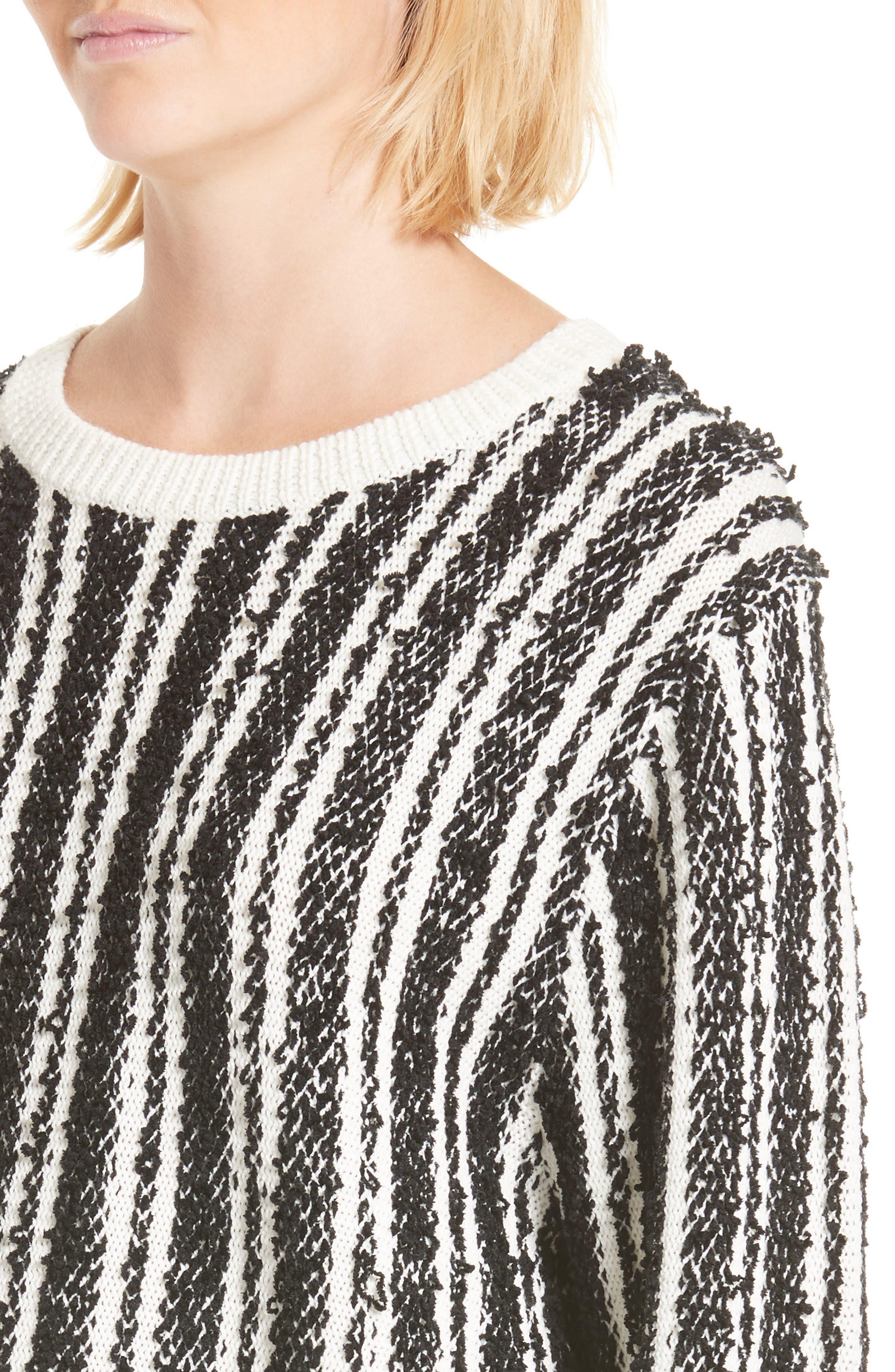 Nabila Stripe Sweater,                             Alternate thumbnail 4, color,                             001