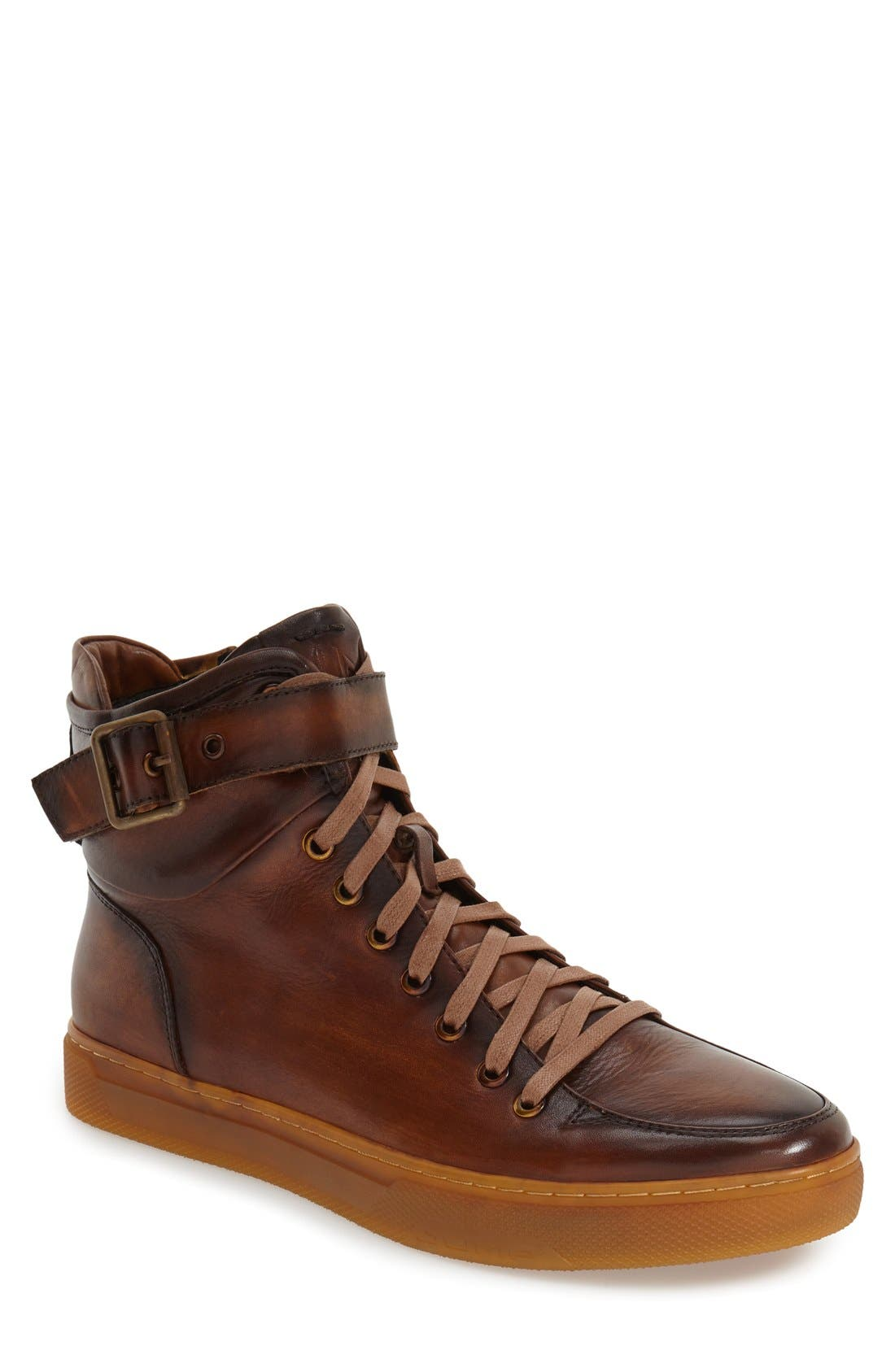 Sullivan High Top Sneaker,                         Main,                         color, TAN LEATHER