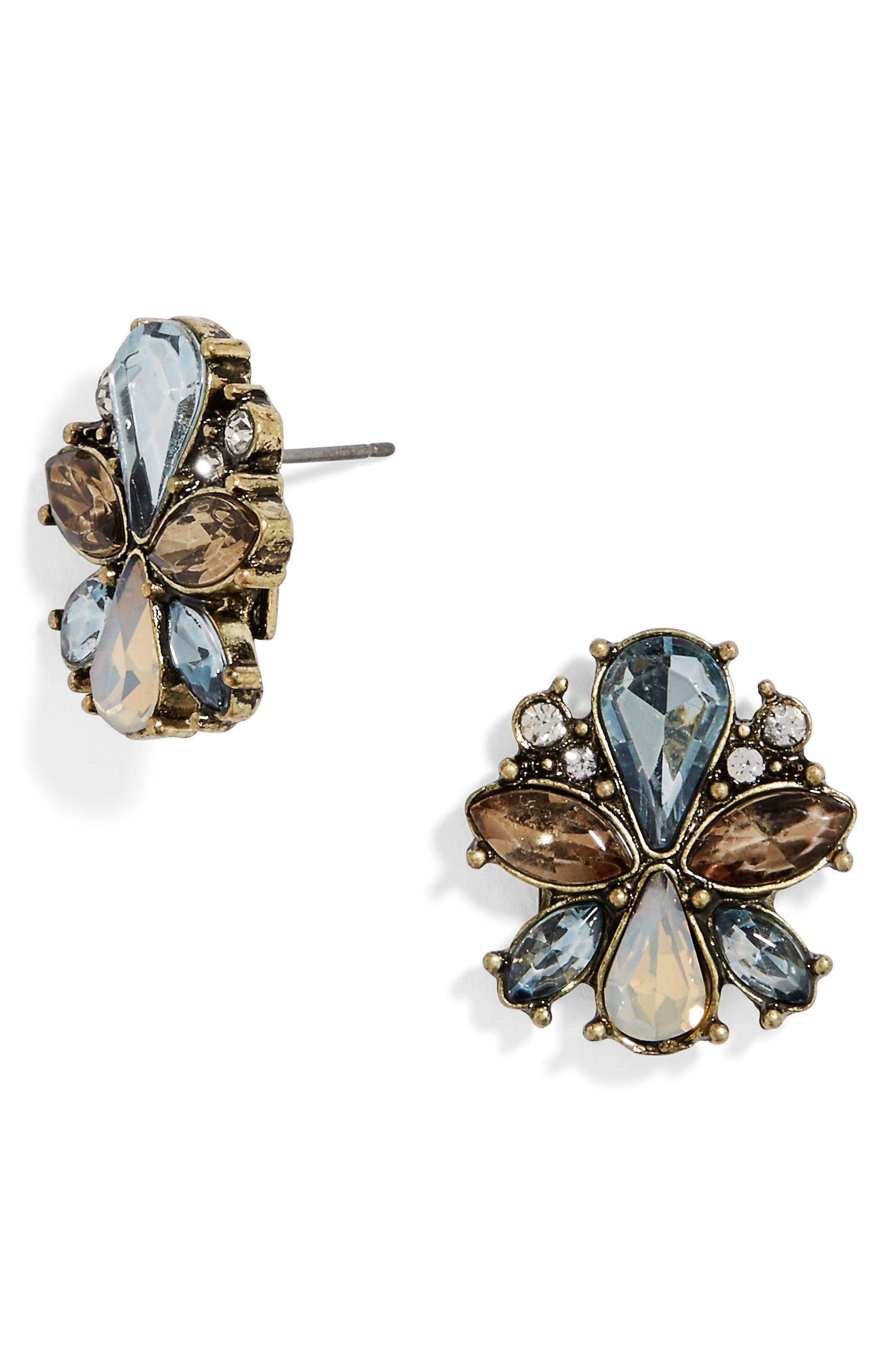 Evanthia Crystal Stud Earrings,                         Main,                         color, 400