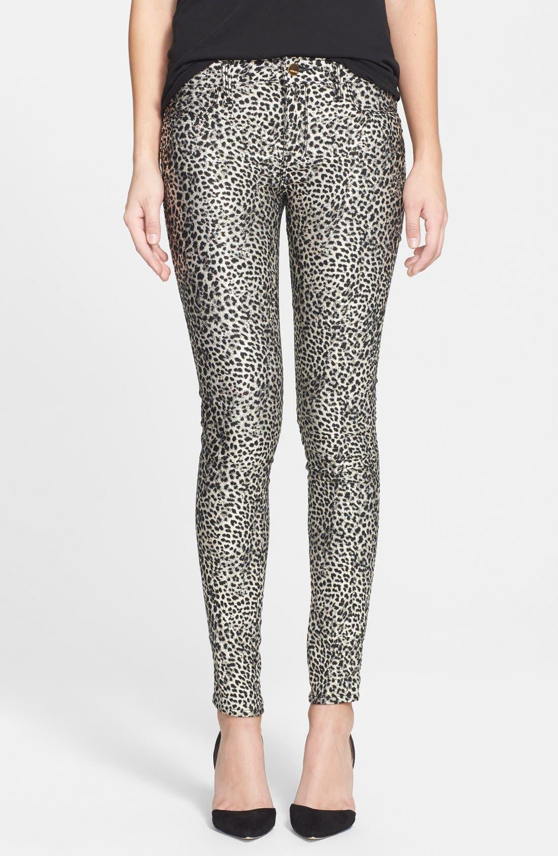 GENETIC 'Shane Skinny' Coated Skinny Jeans, Main, color, 250