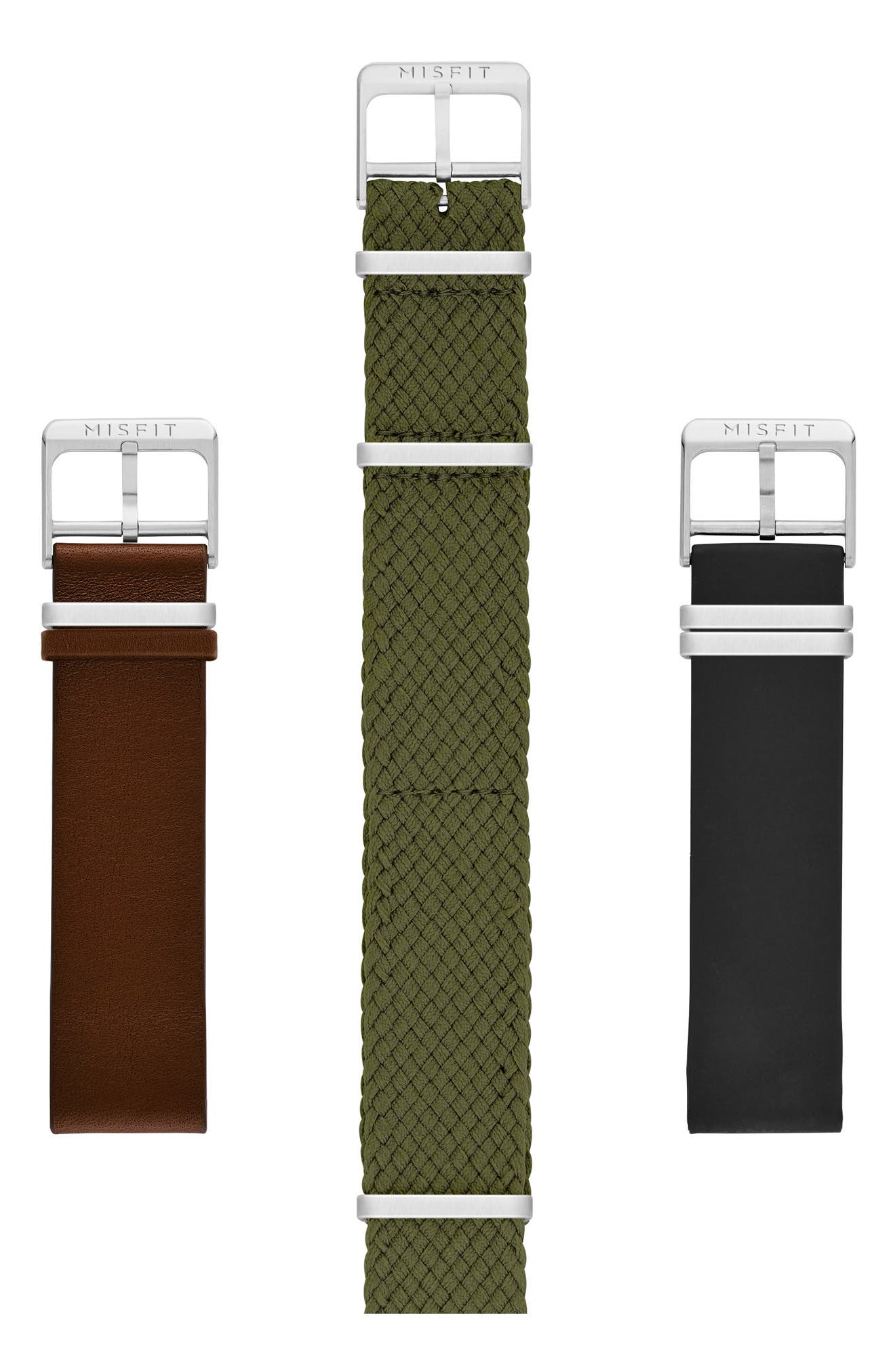 Phase Three-Pack 20mm Watch Straps,                             Alternate thumbnail 3, color,                             001