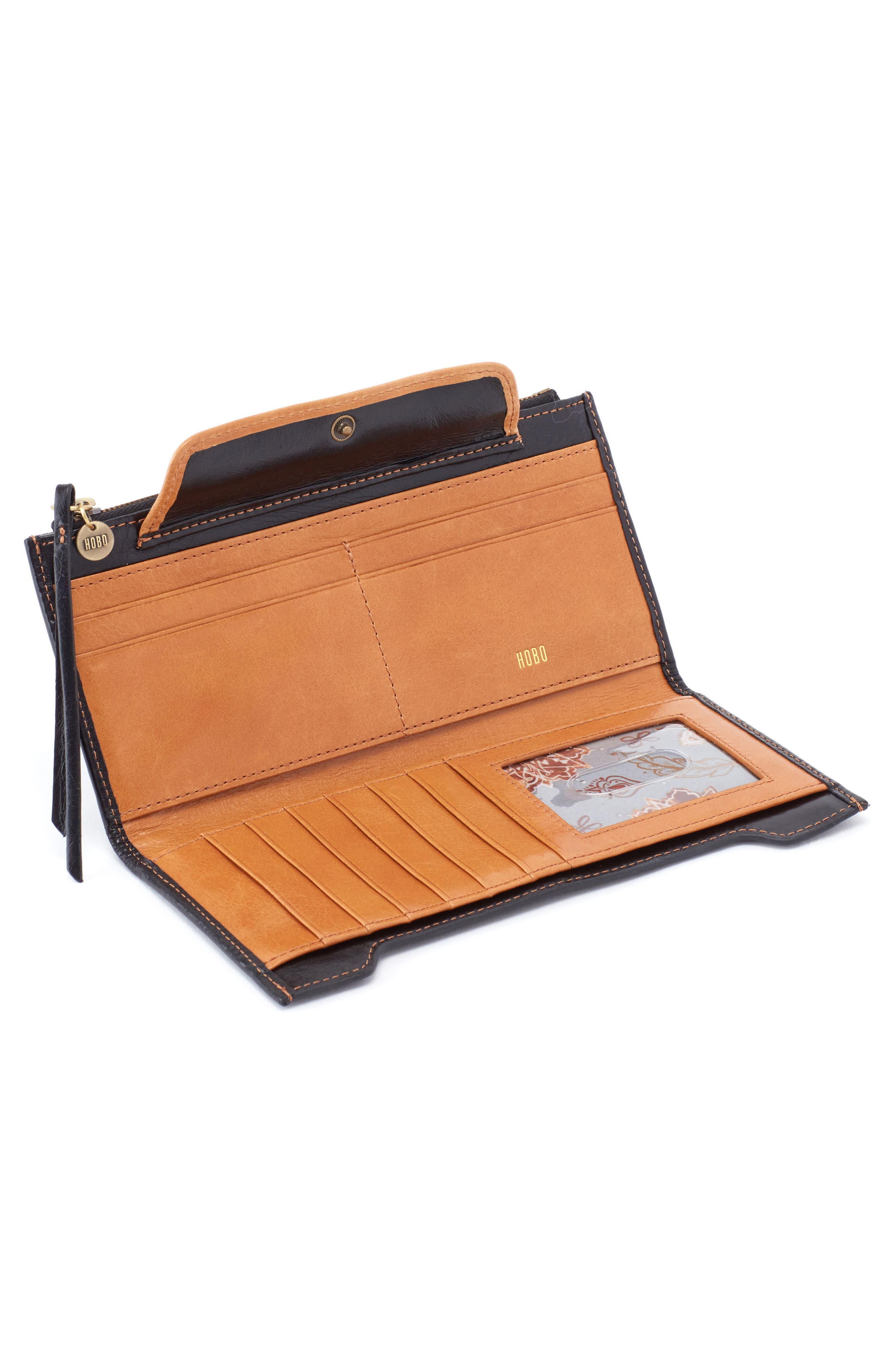 Orbit Continental Leather Wallet,                             Alternate thumbnail 2, color,                             001
