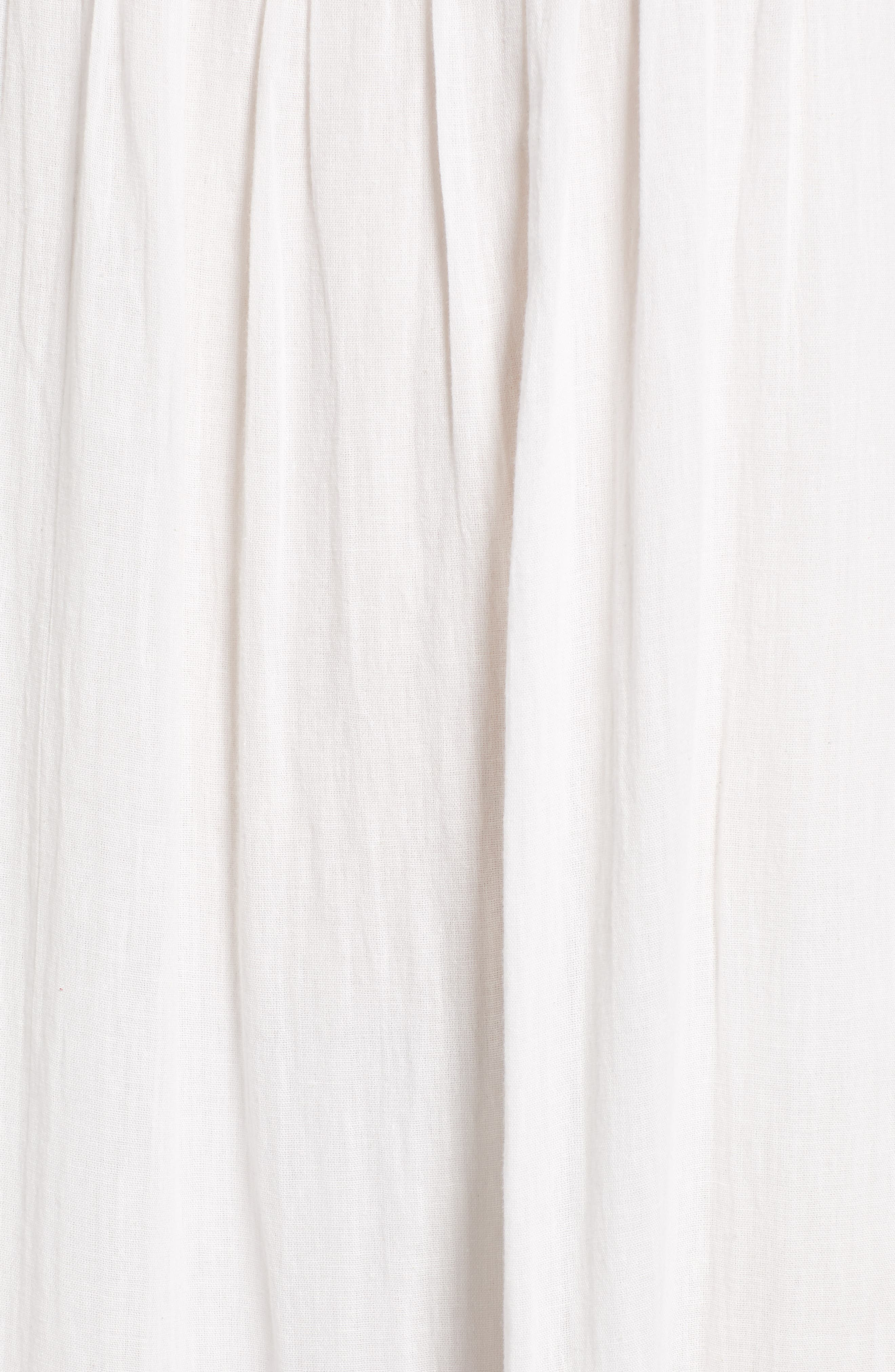 Embroidered Gauze Midi Dress,                             Alternate thumbnail 6, color,                             124