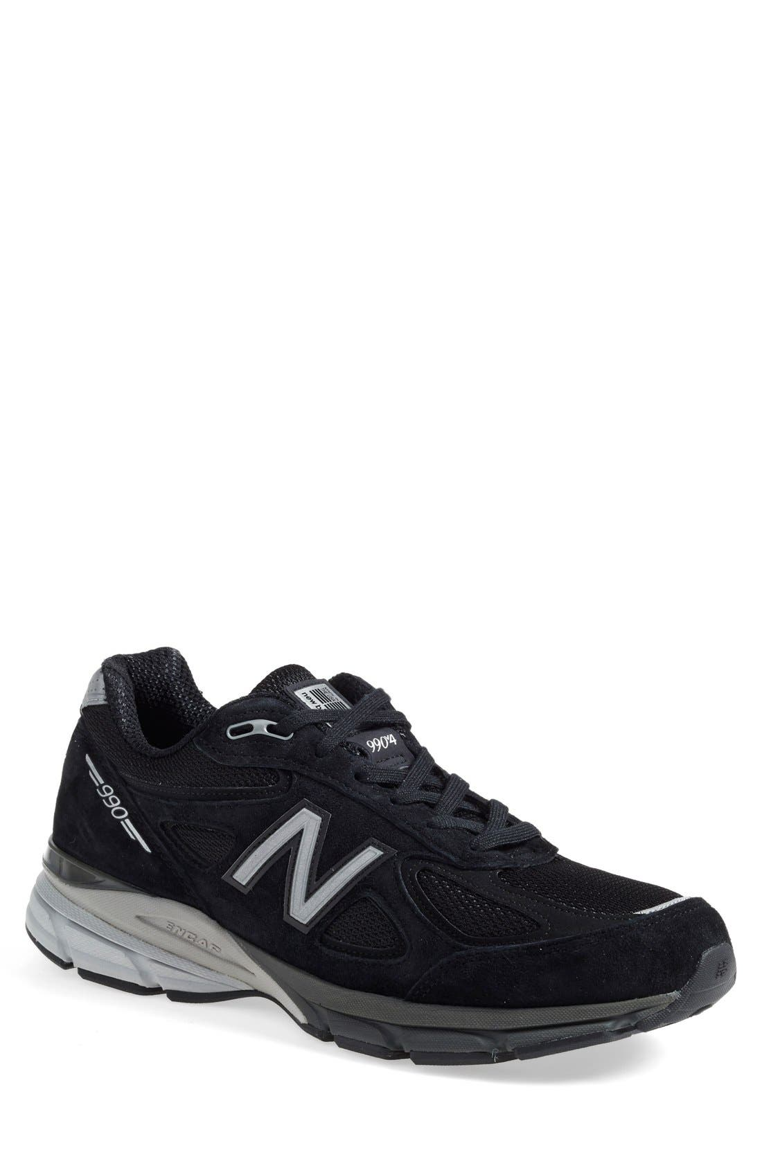 '990' Running Shoe,                             Main thumbnail 1, color,                             BLACK
