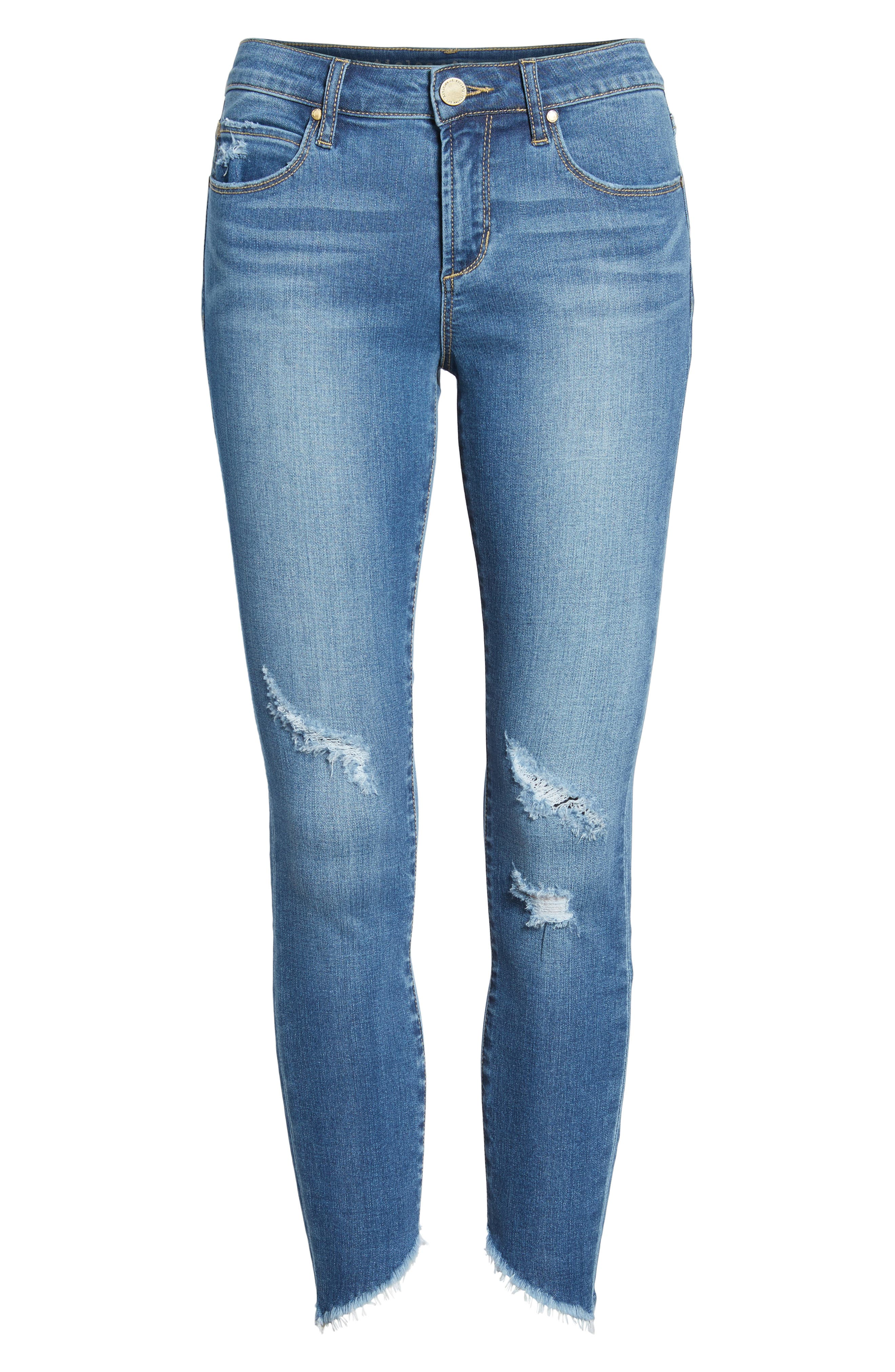 Sammy Distressed Crop Skinny Jeans,                             Alternate thumbnail 7, color,                             400