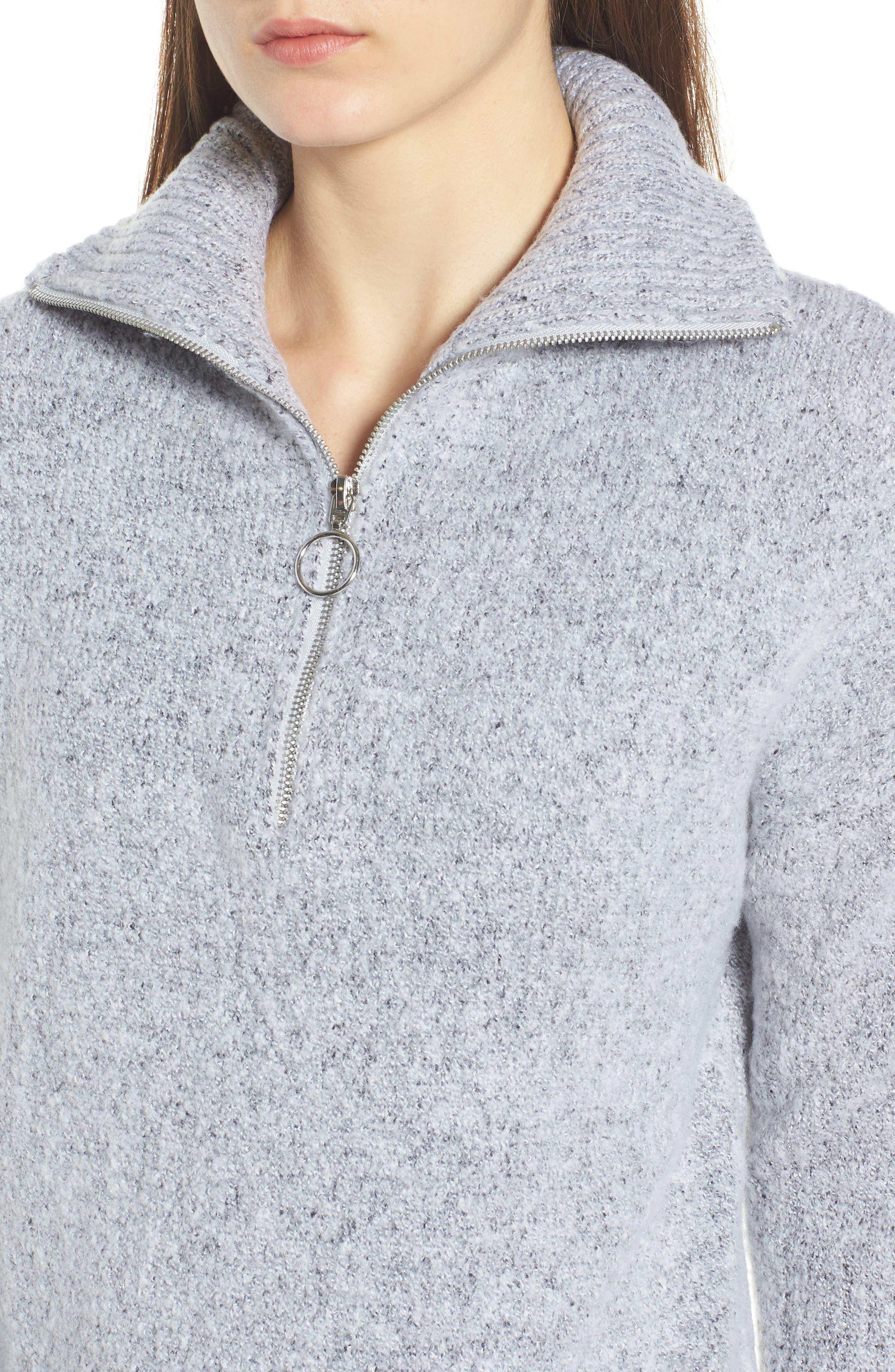 Quarter Zip Sweater,                             Alternate thumbnail 4, color,                             020
