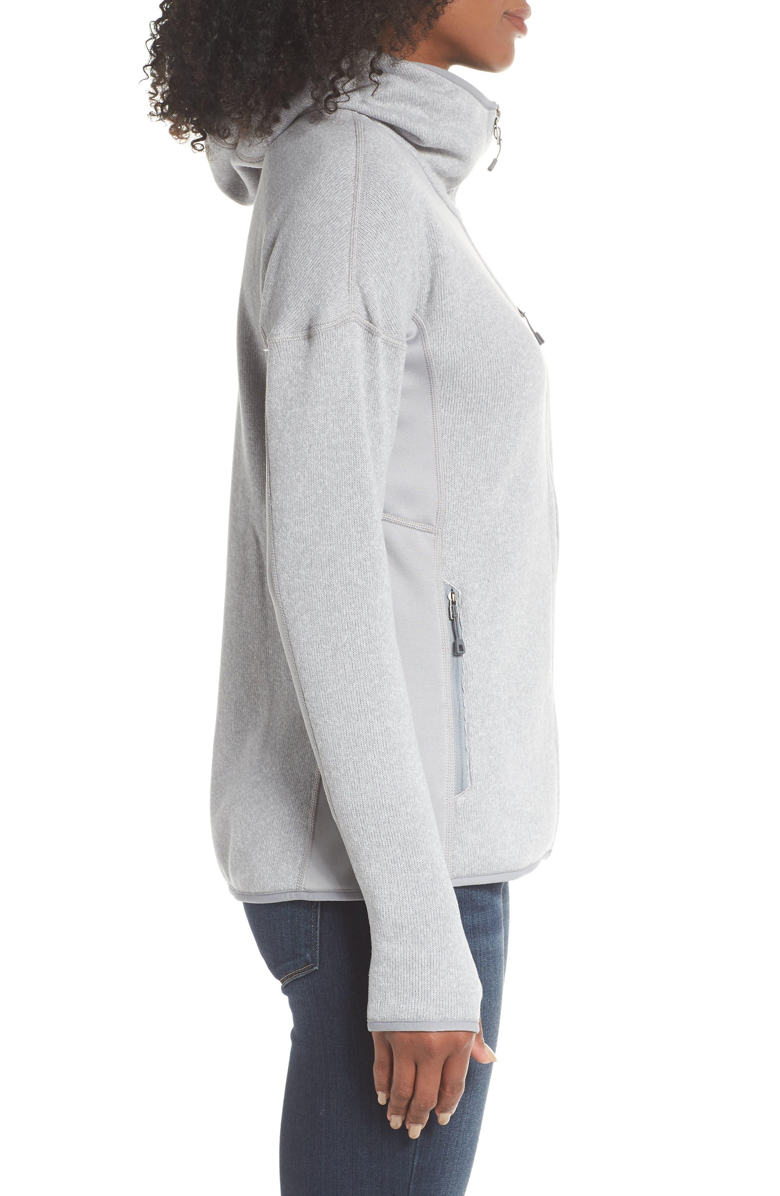 Performance Better Sweater Hoodie,                             Alternate thumbnail 3, color,                             DRIFT GREY
