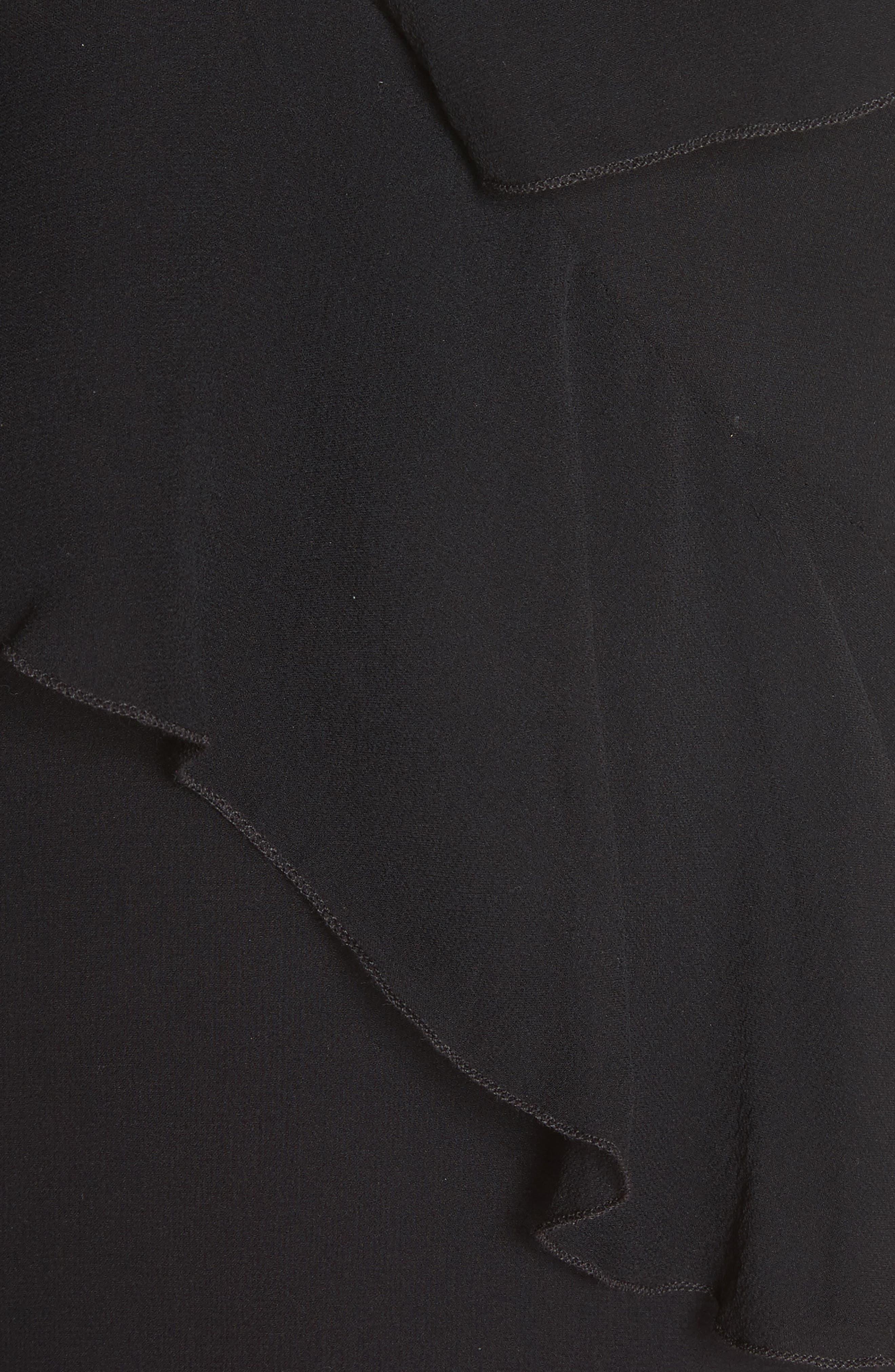 Paulina Ruffle Silk Tank,                             Alternate thumbnail 5, color,                             001