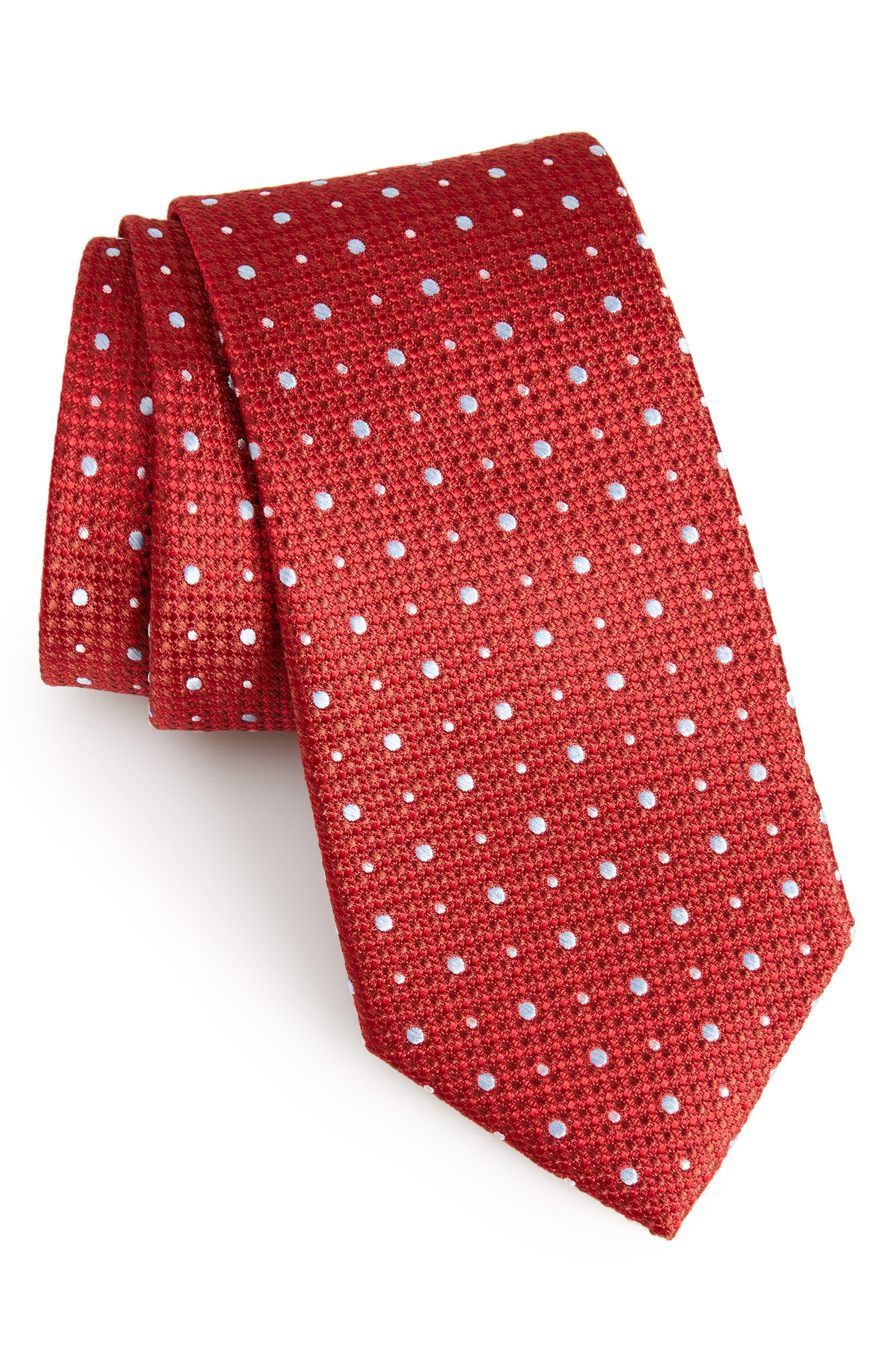Gest Dot Silk Tie,                             Main thumbnail 6, color,