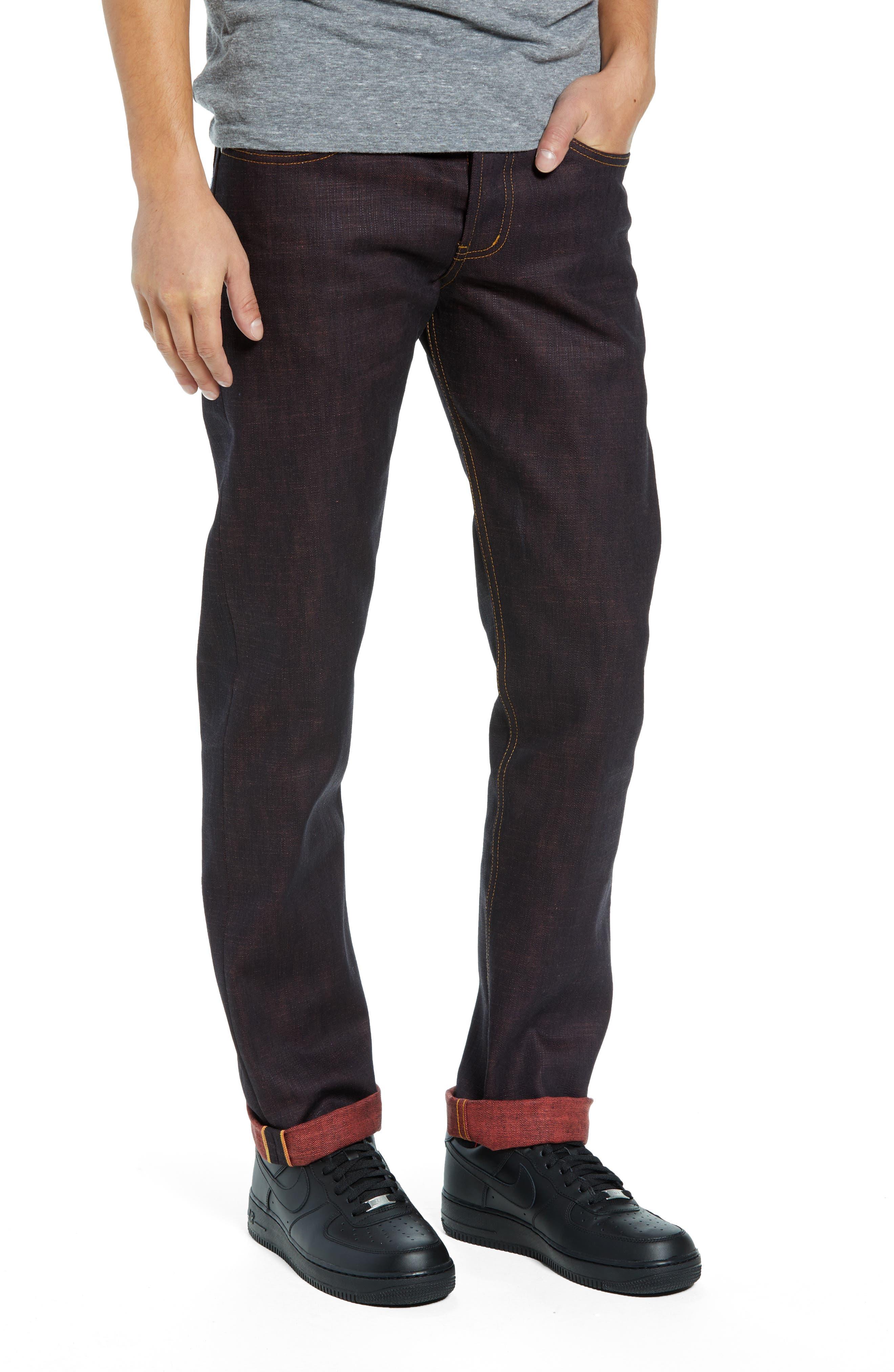 Weird Guy Slim Fit Jeans,                             Main thumbnail 1, color,                             KEN SHORYUKEN SELVEDGE