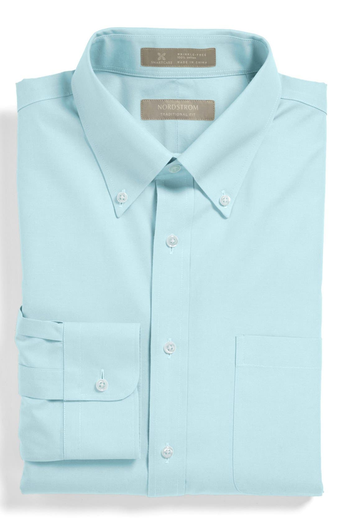 Smartcare<sup>™</sup> Traditional Fit Pinpoint Dress Shirt,                             Main thumbnail 20, color,