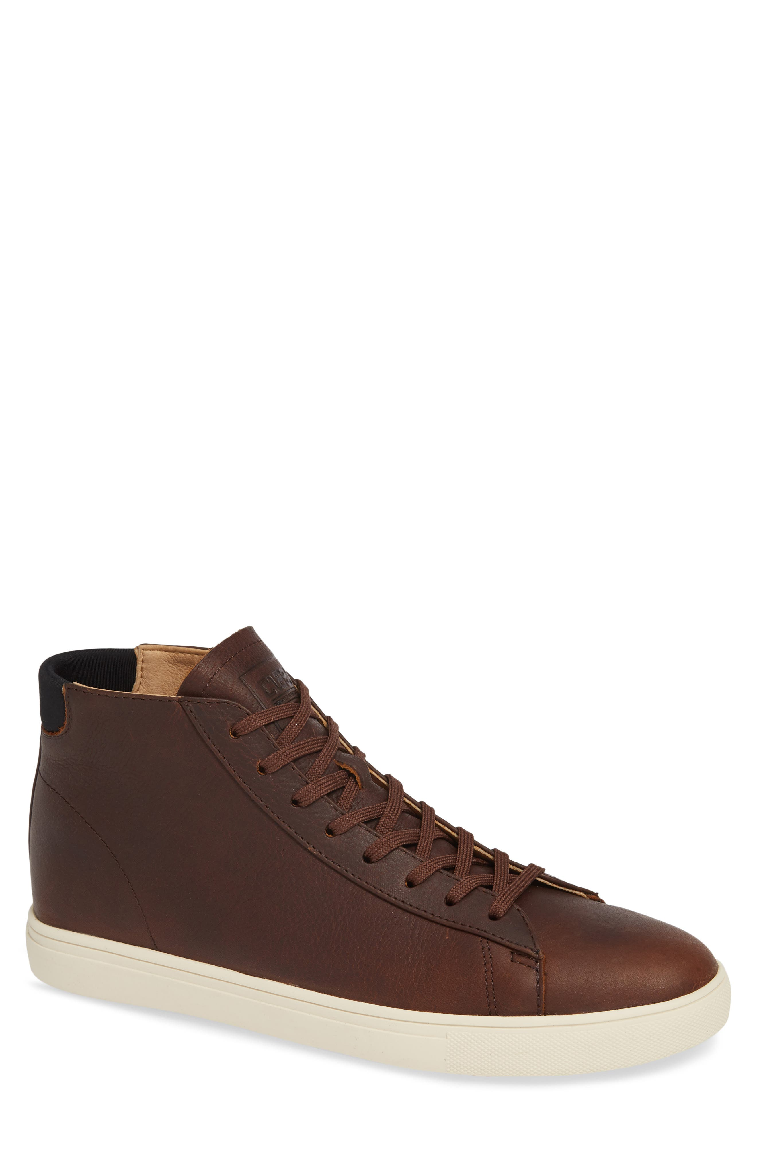 CLAE 'Bradley Mid' Sneaker in Cocoa Leather