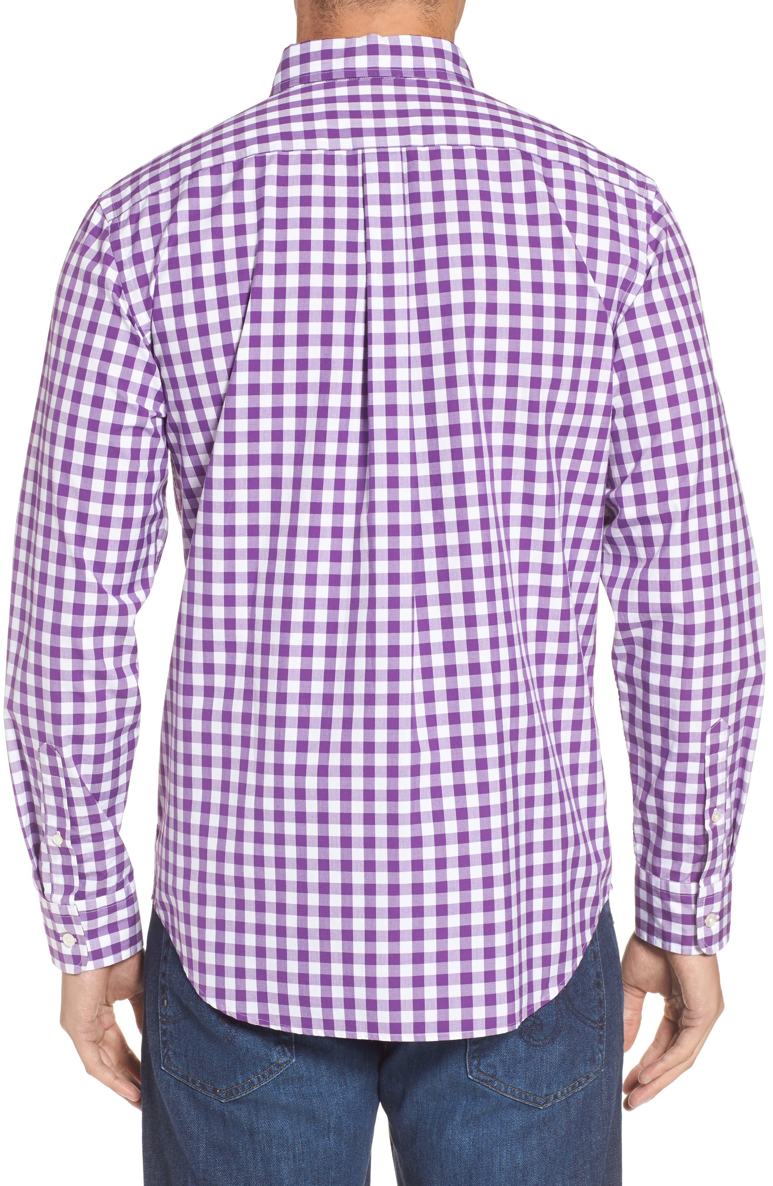 Classic Fit Tucker Garter Gingham Sport Shirt,                             Alternate thumbnail 2, color,