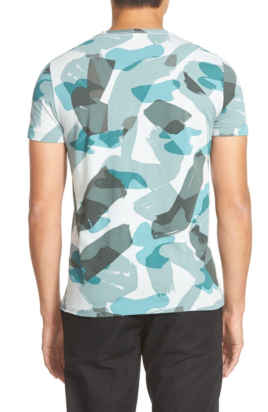 Brit 'Eliot' Camo Print T-Shirt,                             Alternate thumbnail 3, color,                             440