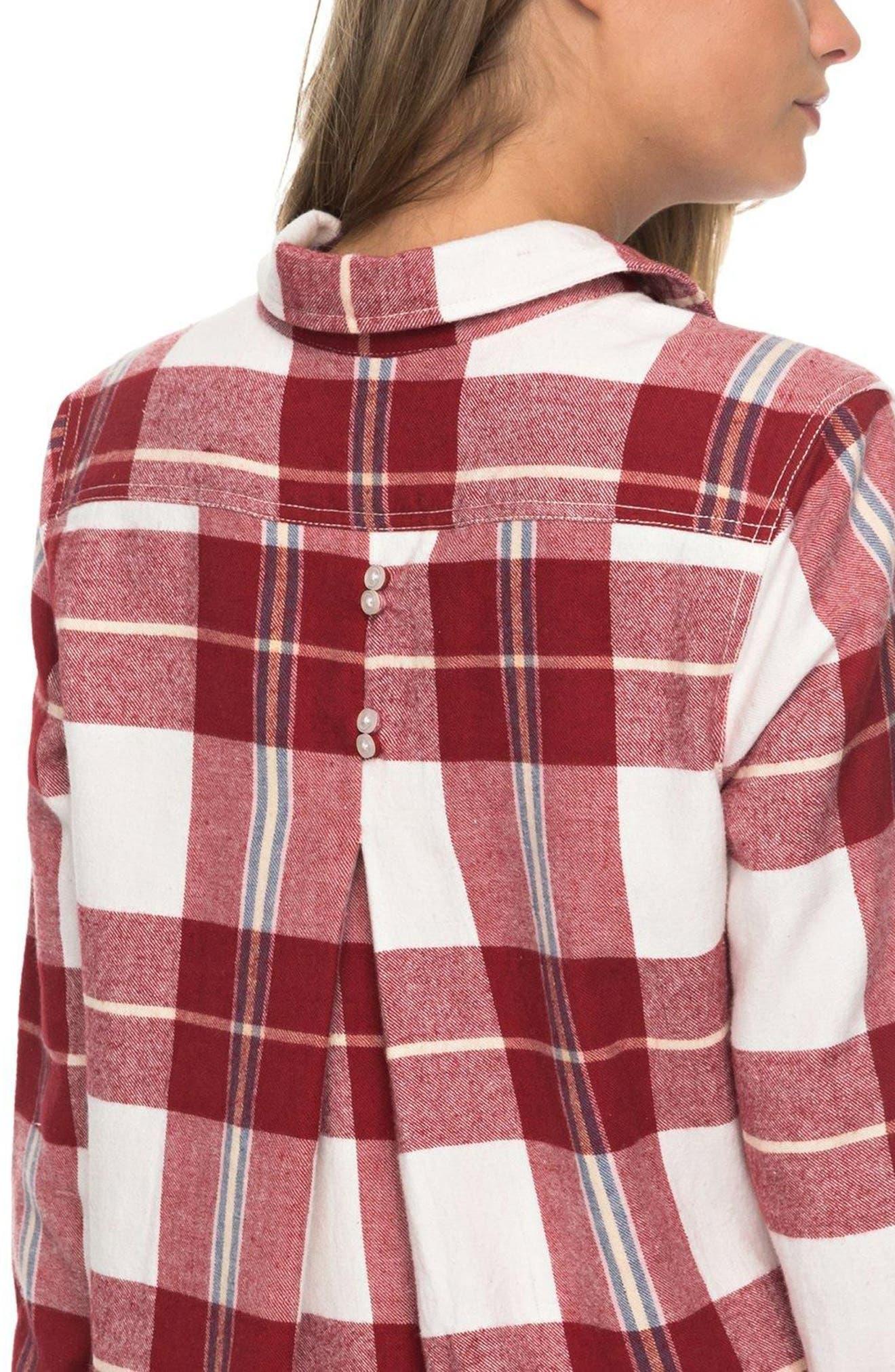 Heavy Feelings Plaid Cotton Shirt,                             Alternate thumbnail 9, color,