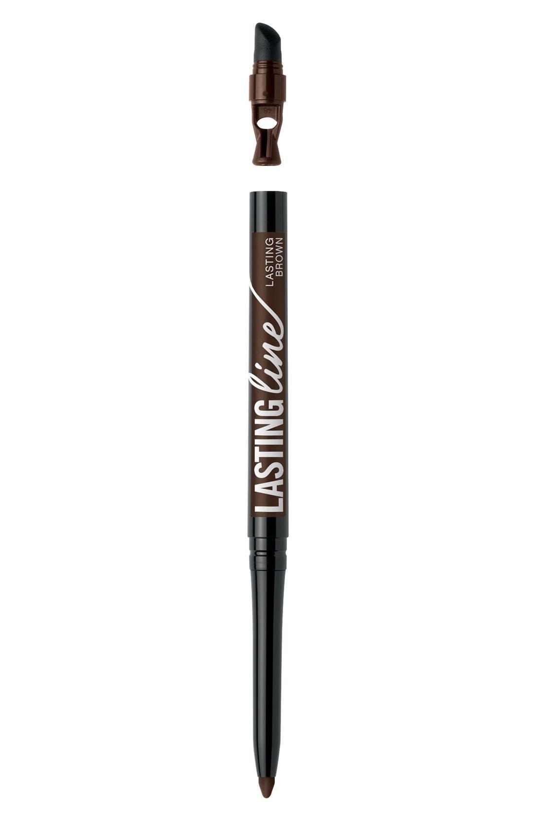 'Lasting Line - True Romantic' Long Wear Eyeliner, Main, color, LASTING BROWN