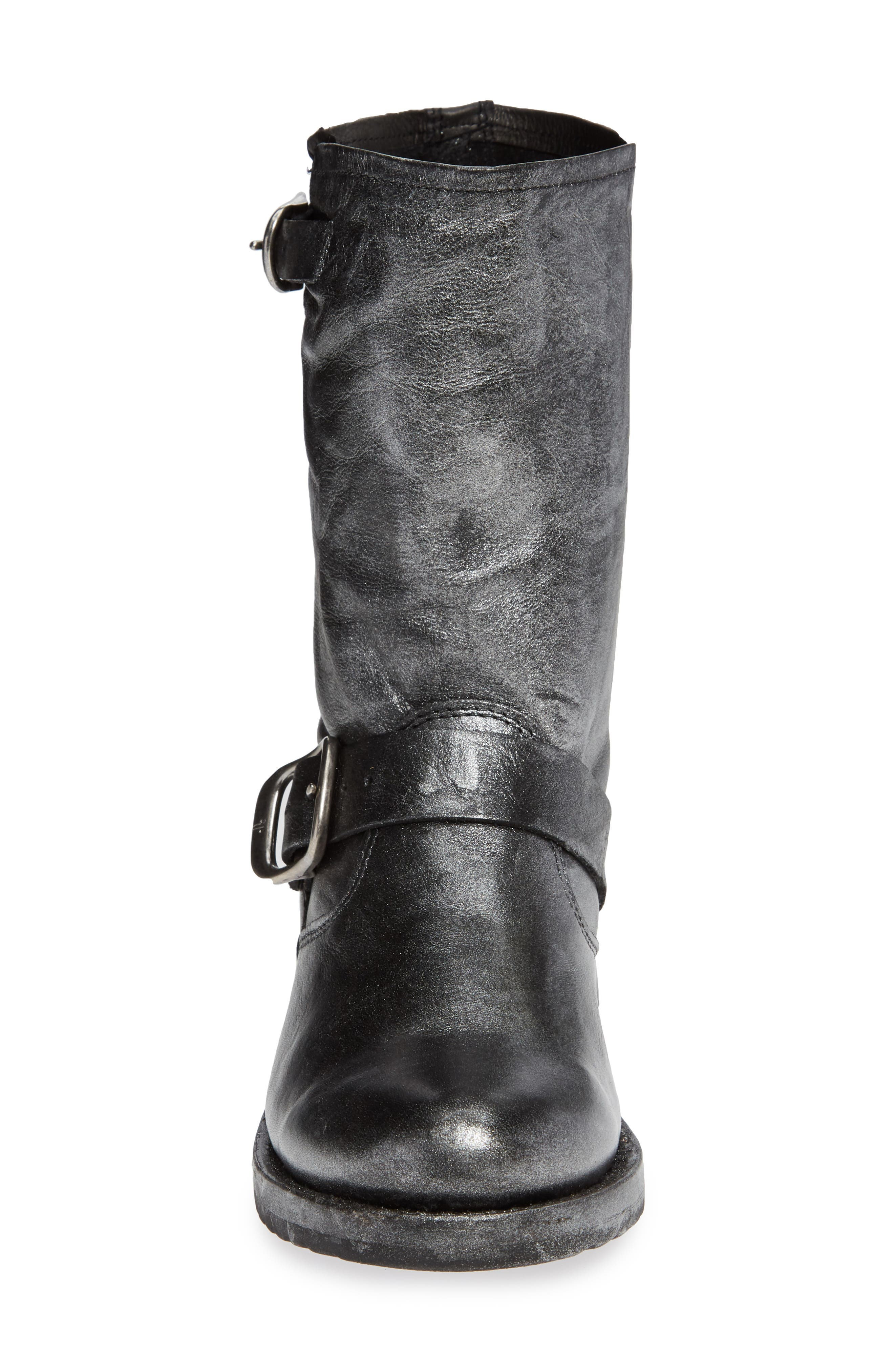 'Veronica Short' Slouchy Boot,                             Alternate thumbnail 4, color,                             002