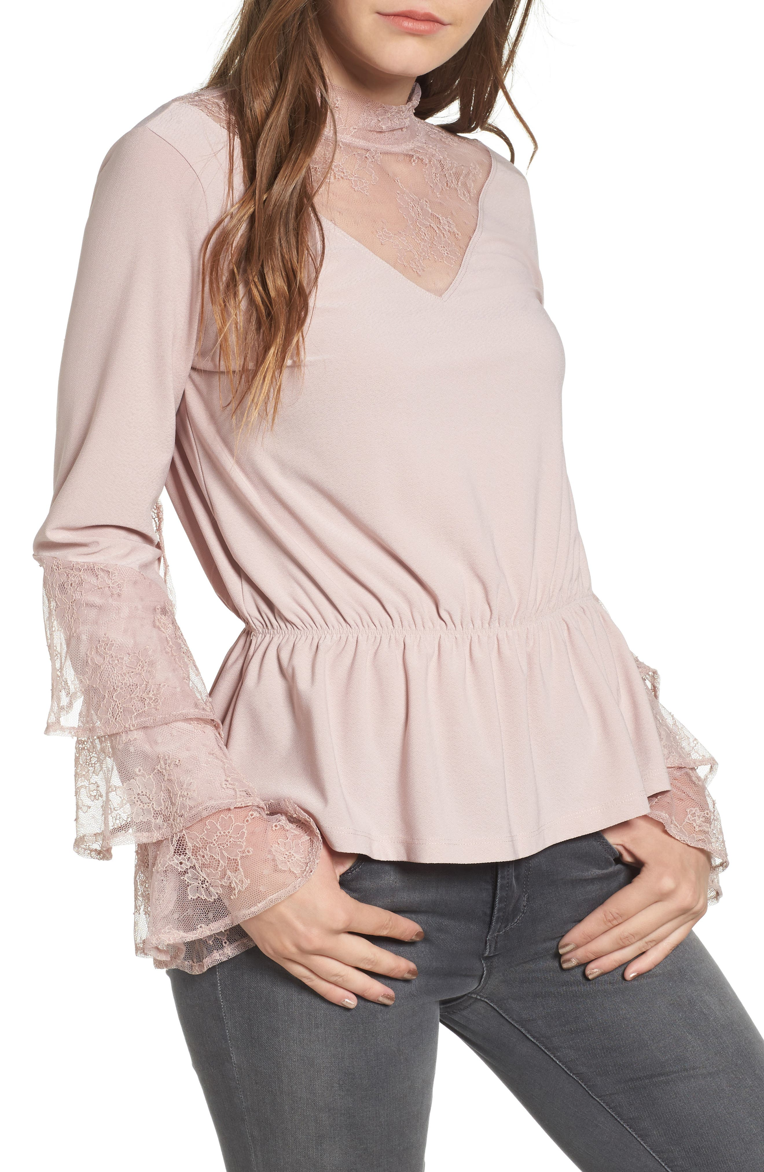 Spiral Lace Top,                         Main,                         color, 680