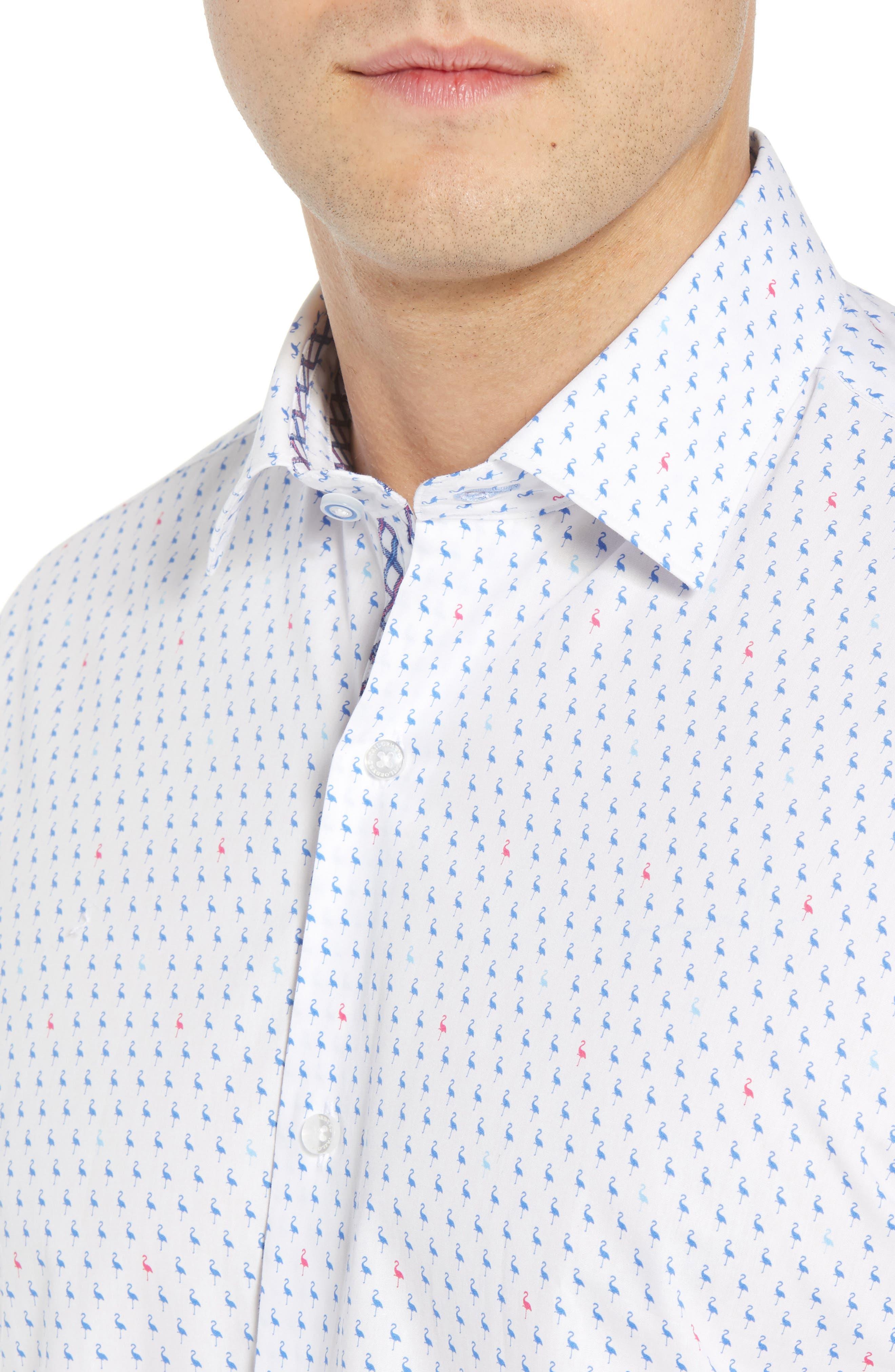Arrie Regular Fit Print Sport Shirt,                             Alternate thumbnail 4, color,                             490