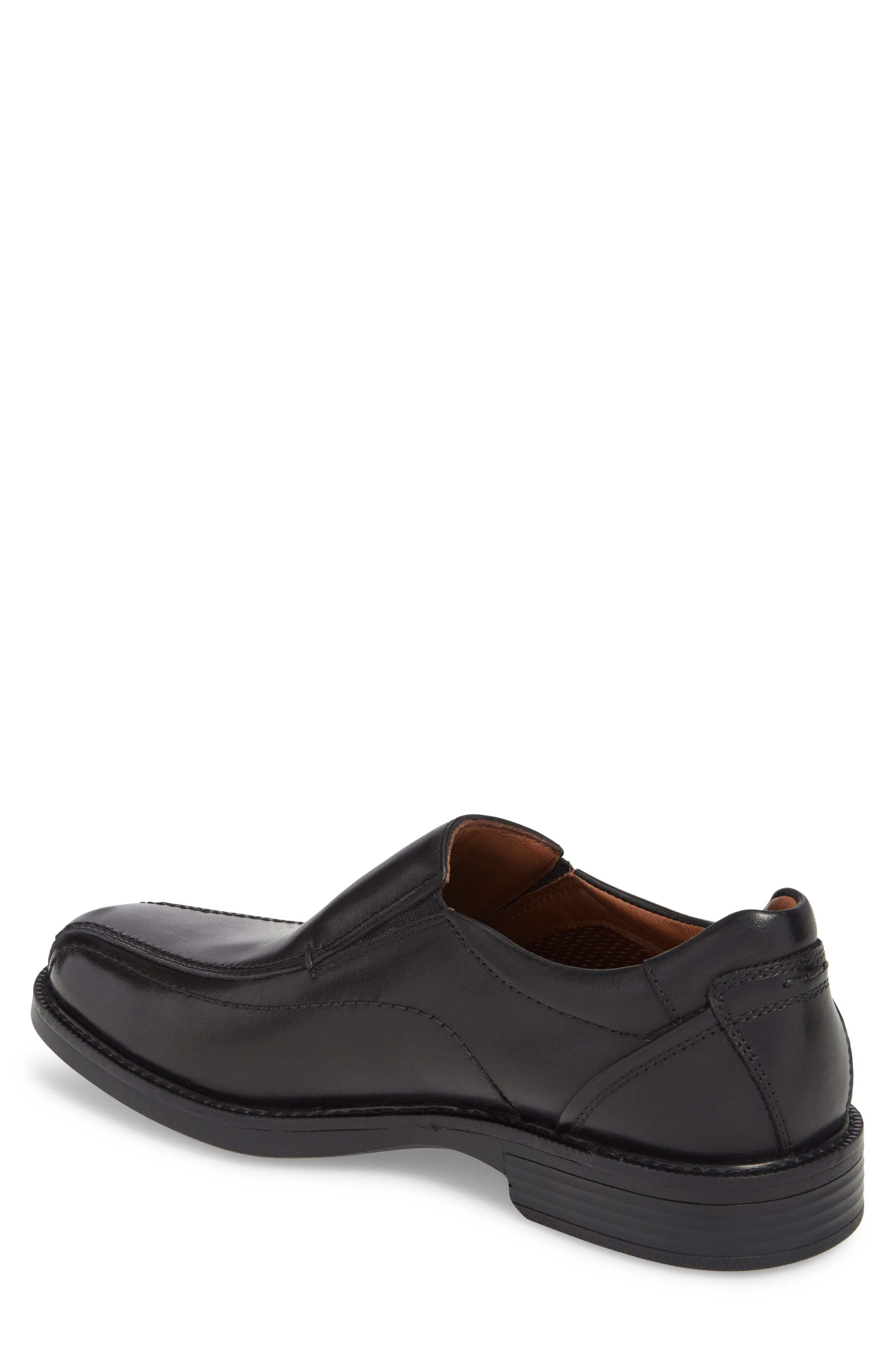 Stanton Runoff XC4<sup>®</sup> Waterproof Bike Toe Slip-On,                             Alternate thumbnail 2, color,                             BLACK LEATHER