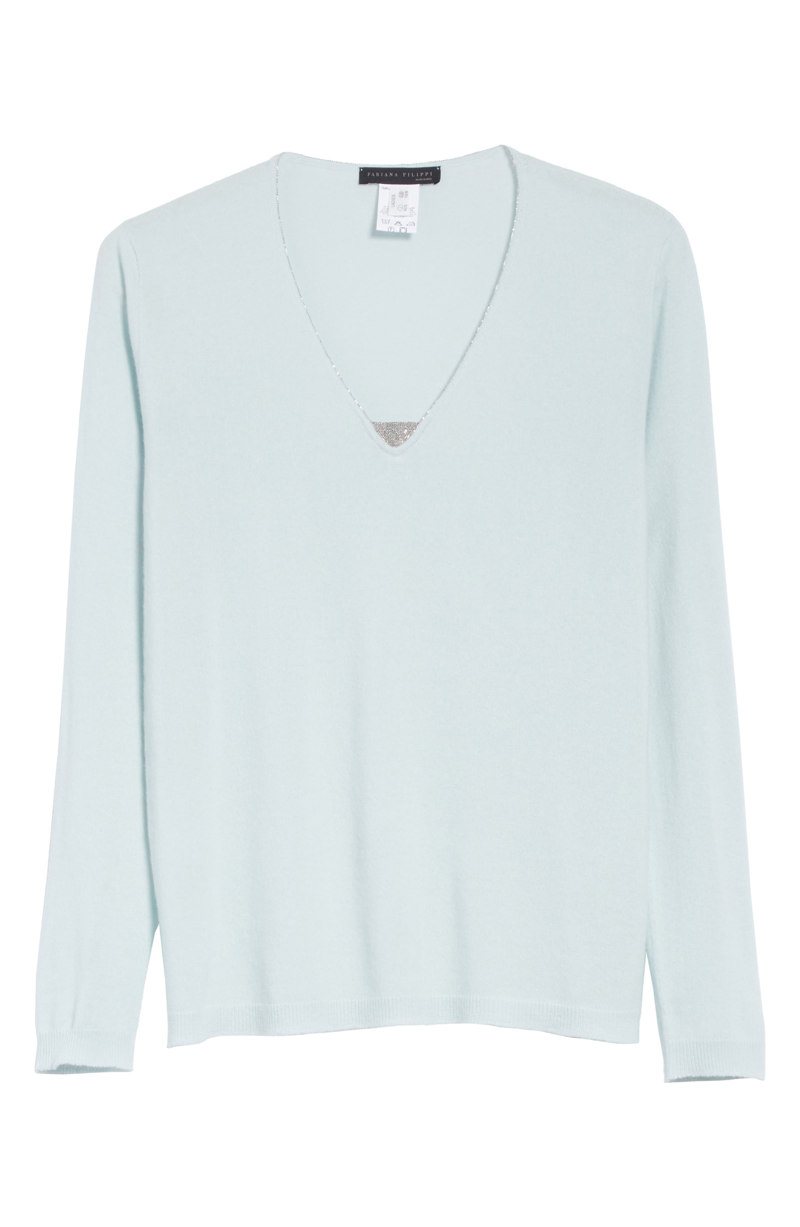 V-Neck Cashmere Sweater,                             Alternate thumbnail 11, color,