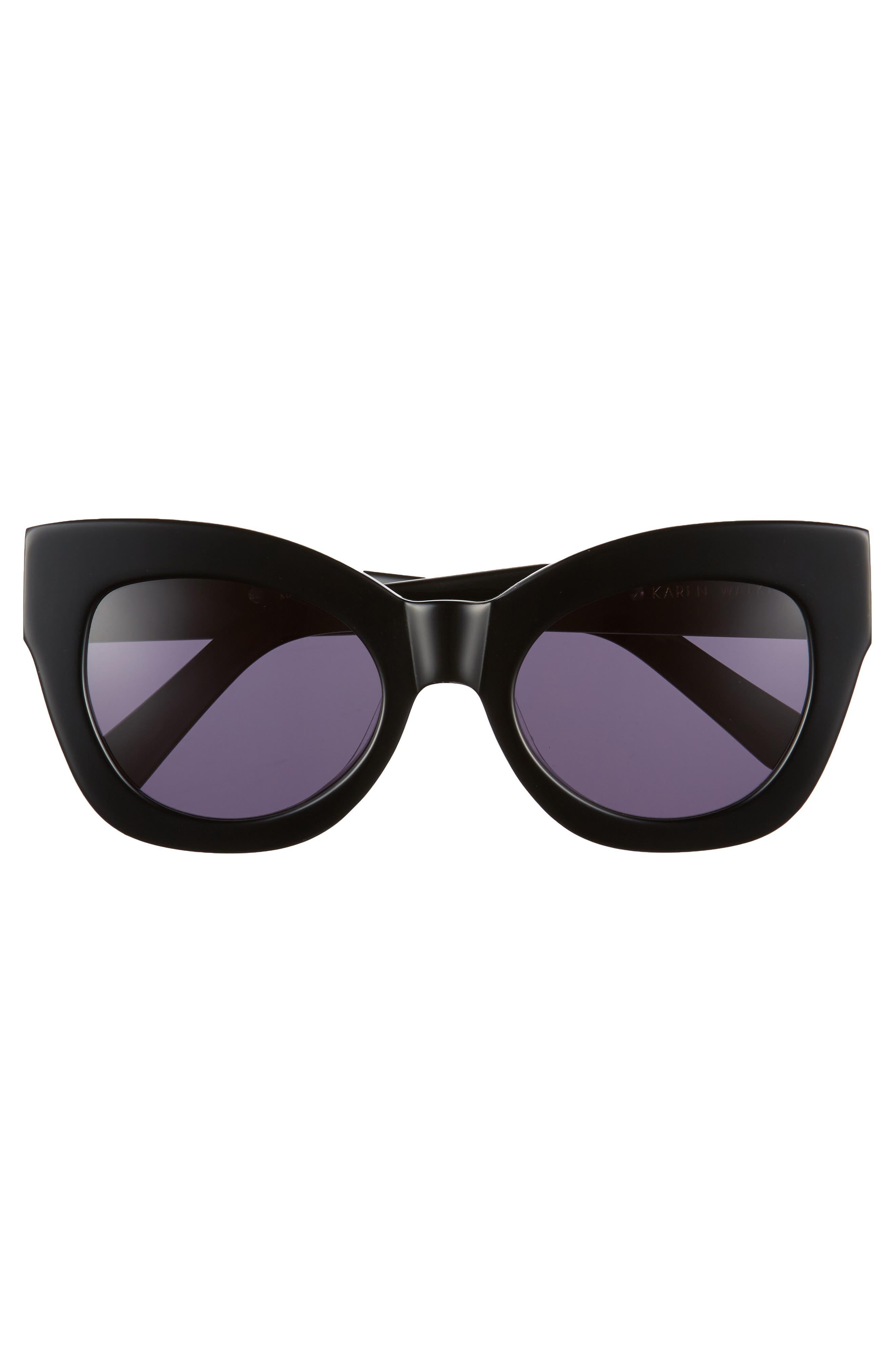 Northern Lights V2 51mm Cat Eye Sunglasses,                             Alternate thumbnail 3, color,                             001