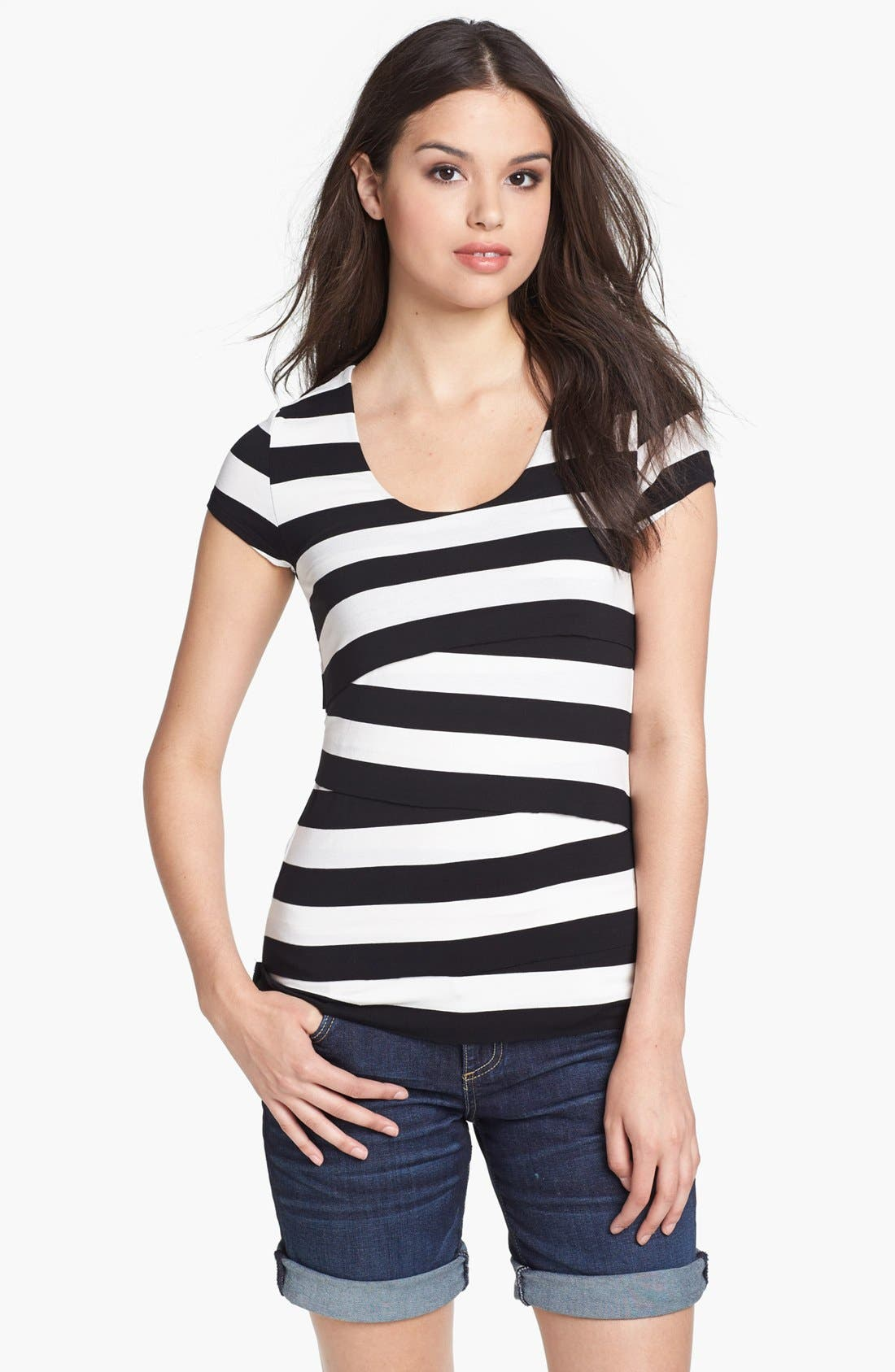 Stripe Bandage Top,                         Main,                         color,
