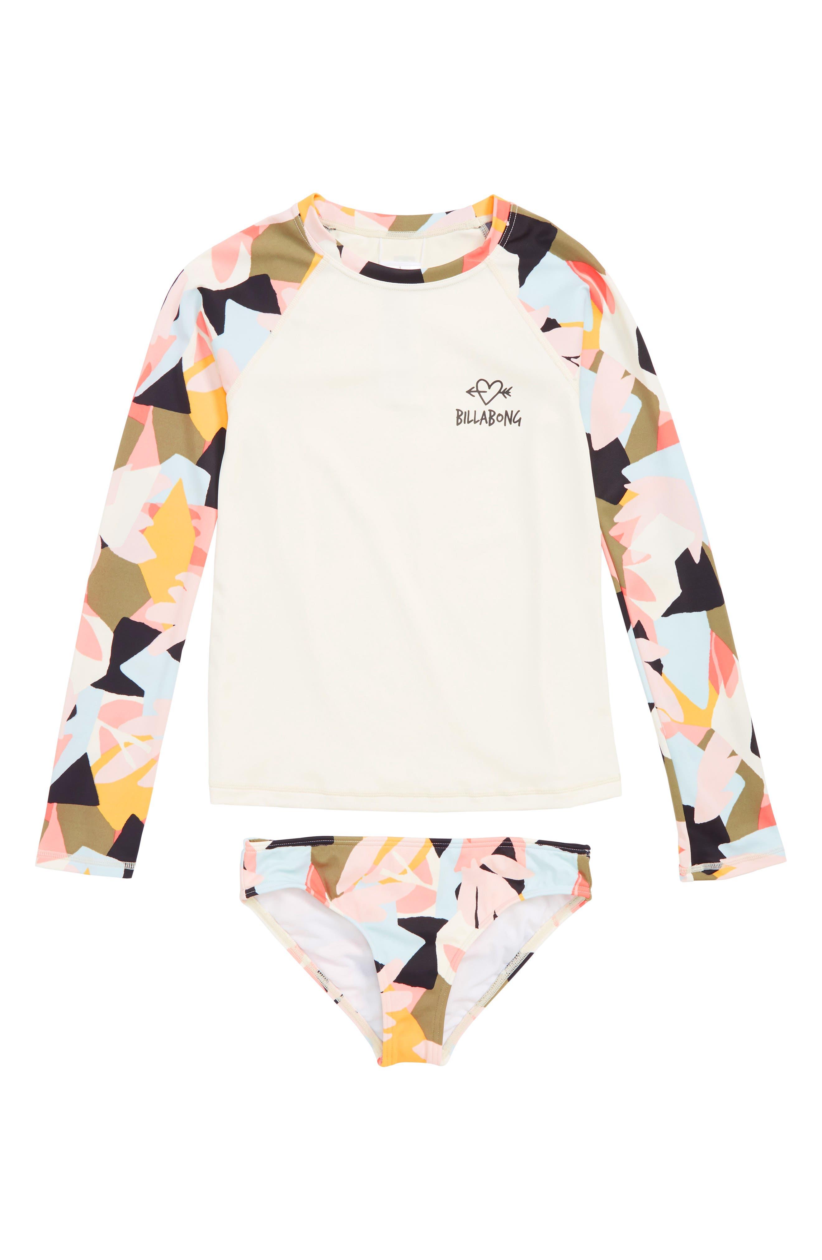 Chaka Daze Two-Piece Rashguard Swimsuit,                         Main,                         color, 100