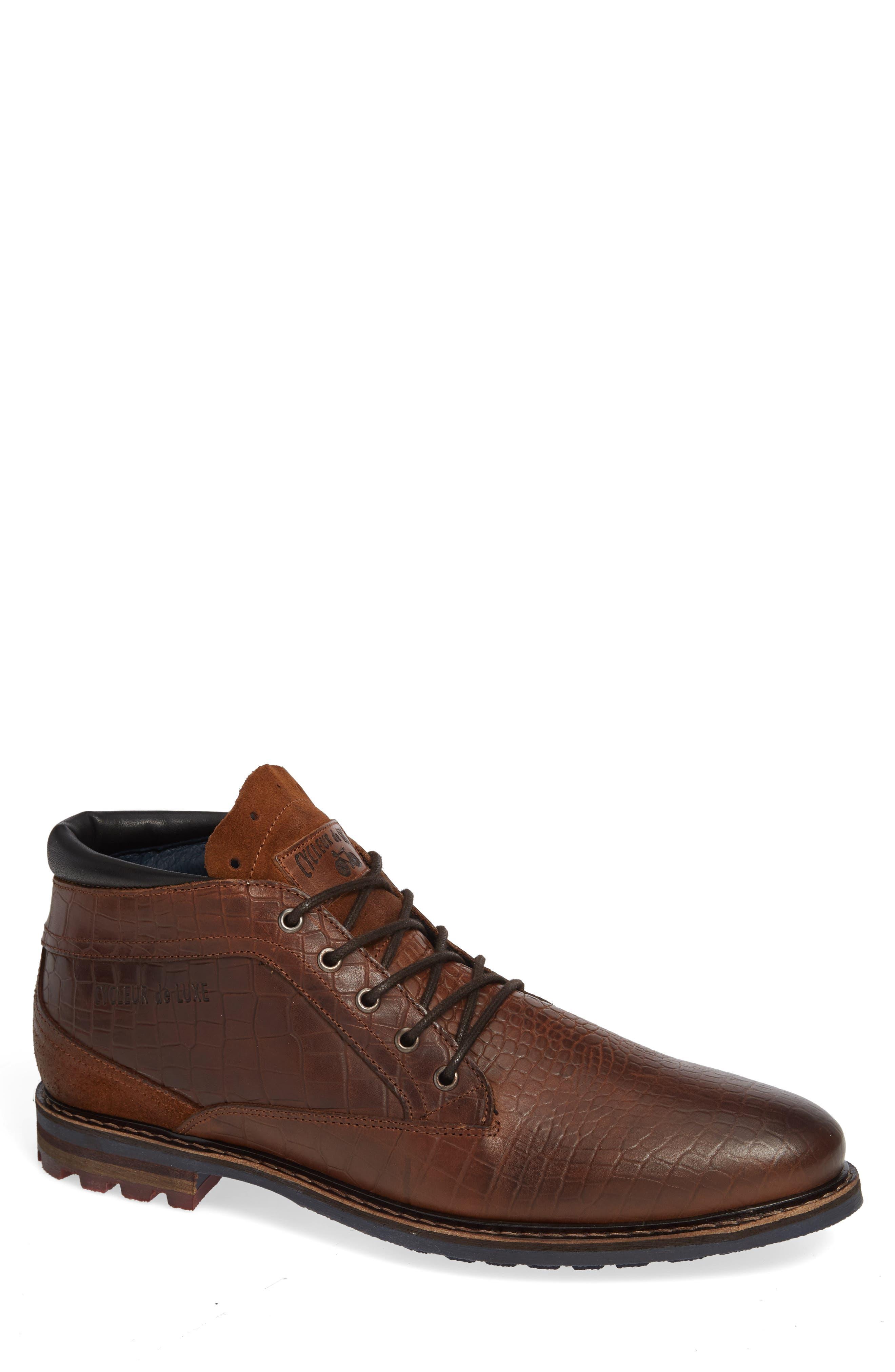 Manton Plain Toe Boot,                             Main thumbnail 1, color,                             COGNAC