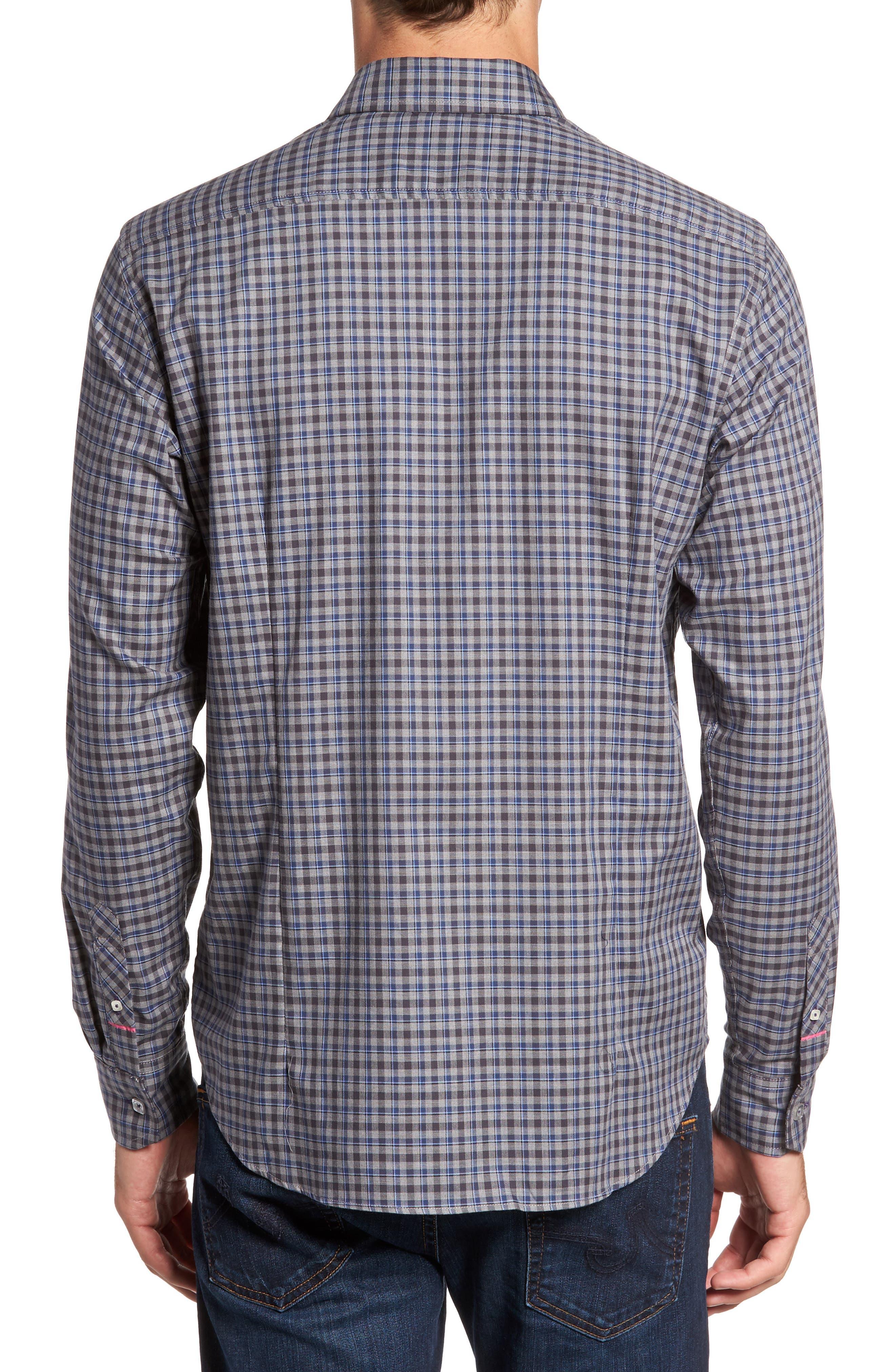 Comfort Fit Plaid Sport Shirt,                             Alternate thumbnail 2, color,
