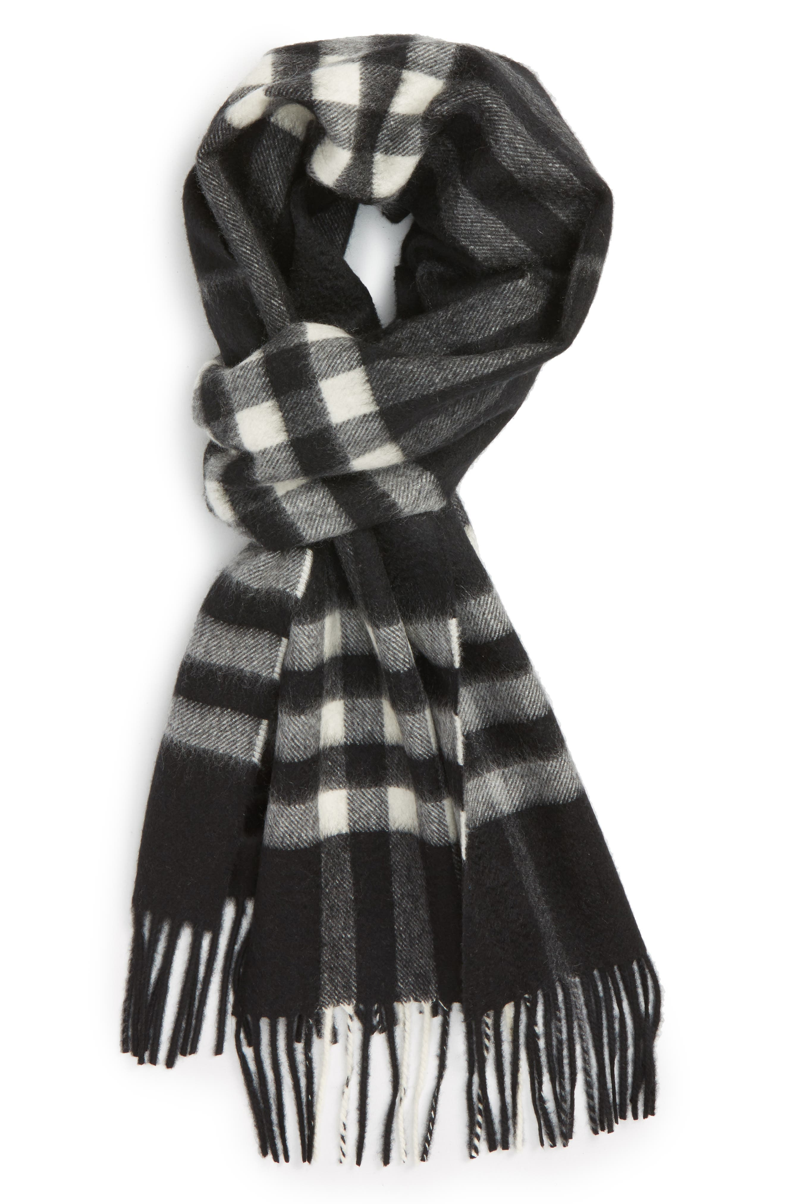 'Giant Icon' Cashmere Scarf,                         Main,                         color, 001