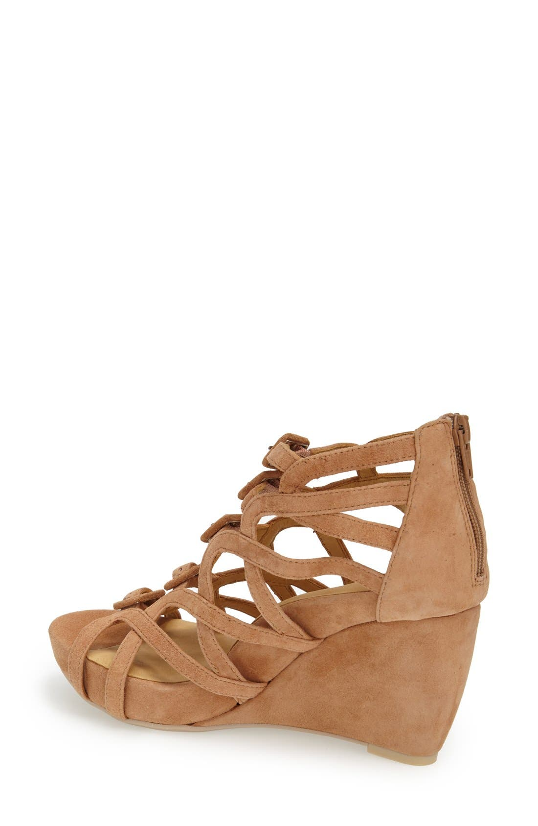 Ivanna' Gladiator Wedge Sandal,                             Alternate thumbnail 10, color,