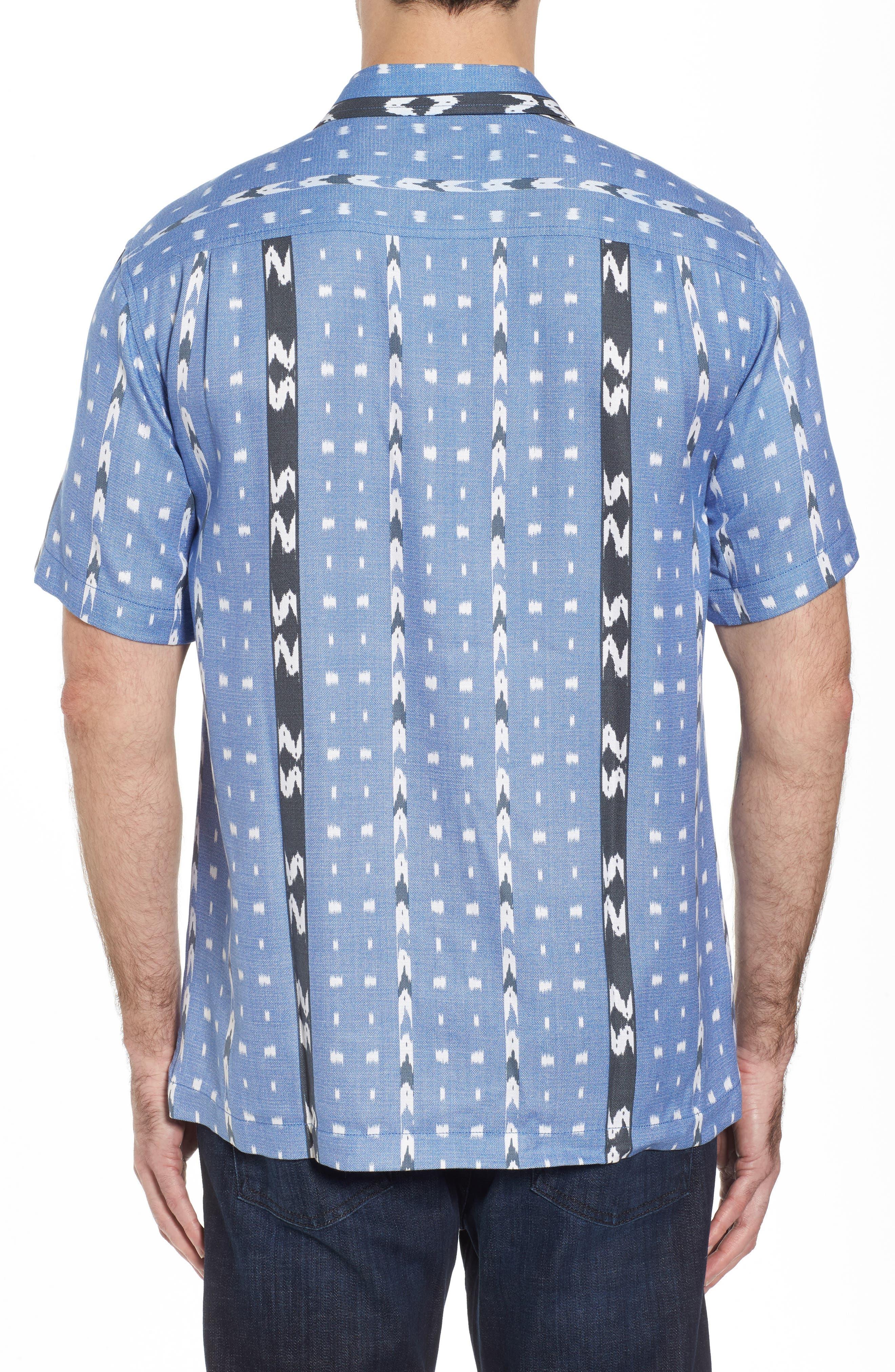 Ikat Don't Stop Silk Blend Camp Shirt,                             Alternate thumbnail 2, color,                             400