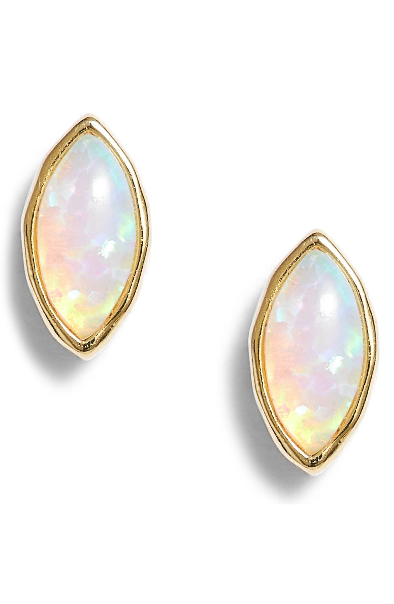 Rumi Opalite Stud Earrings,                             Main thumbnail 1, color,