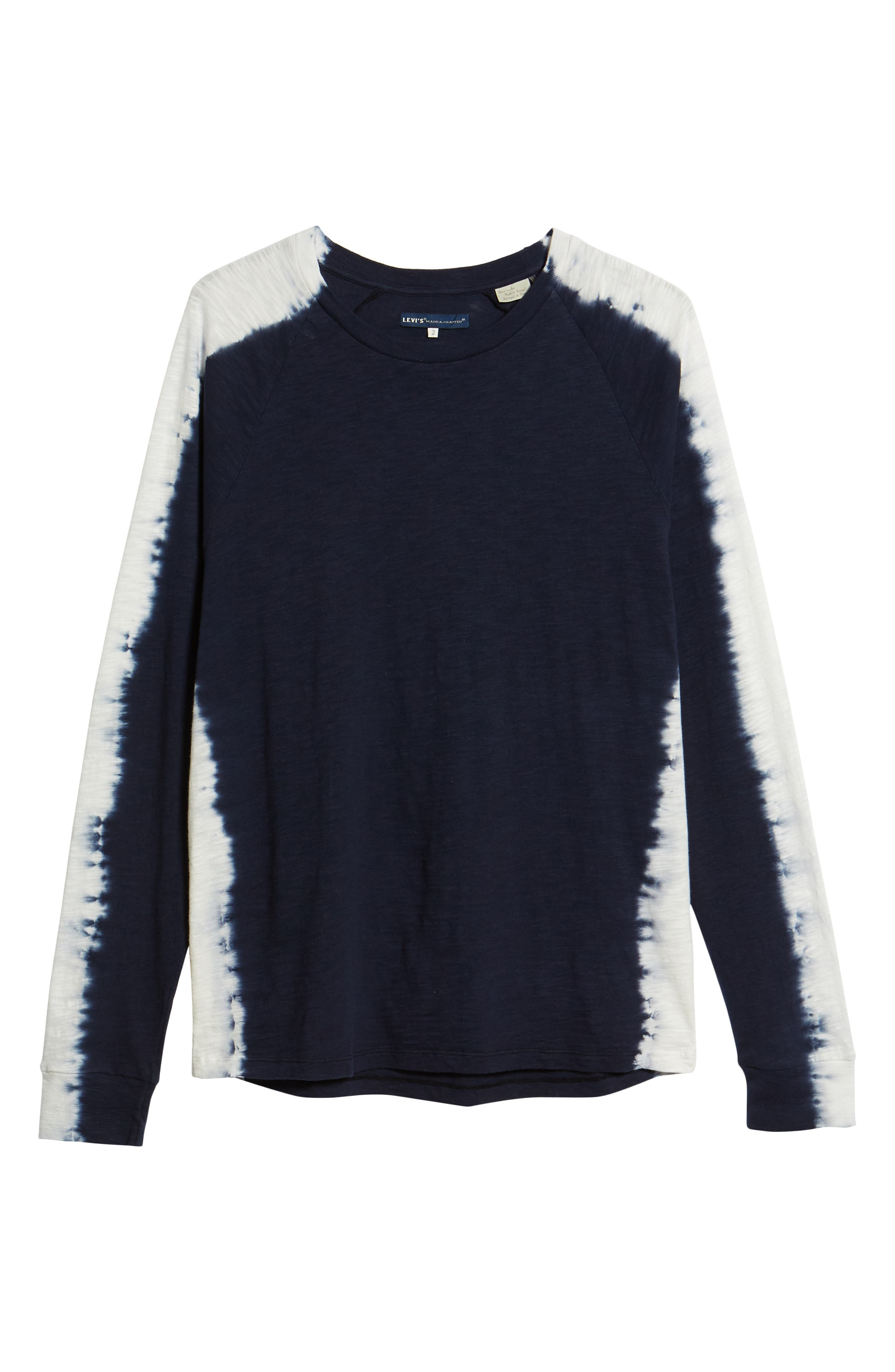 Raglan T-Shirt,                             Alternate thumbnail 6, color,                             INDIGO STRIPE SHIBORI INDIGO