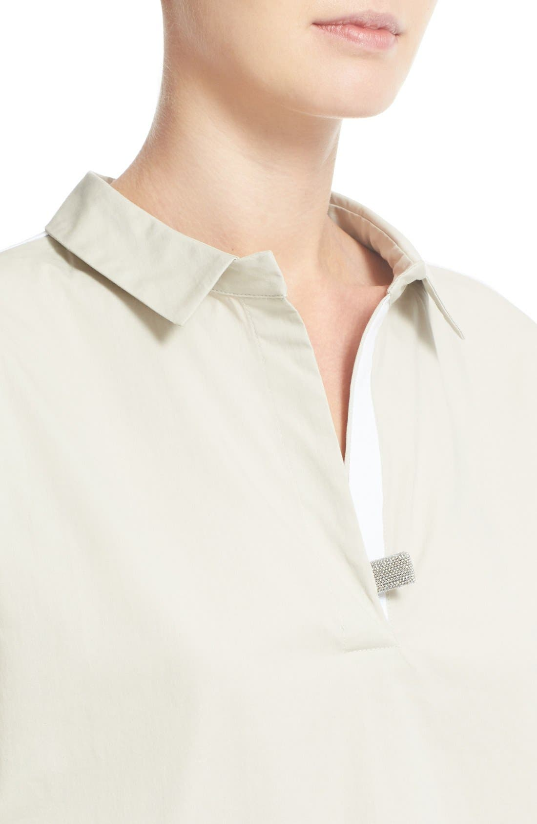 Woven & Jersey Shirt,                             Alternate thumbnail 6, color,                             250