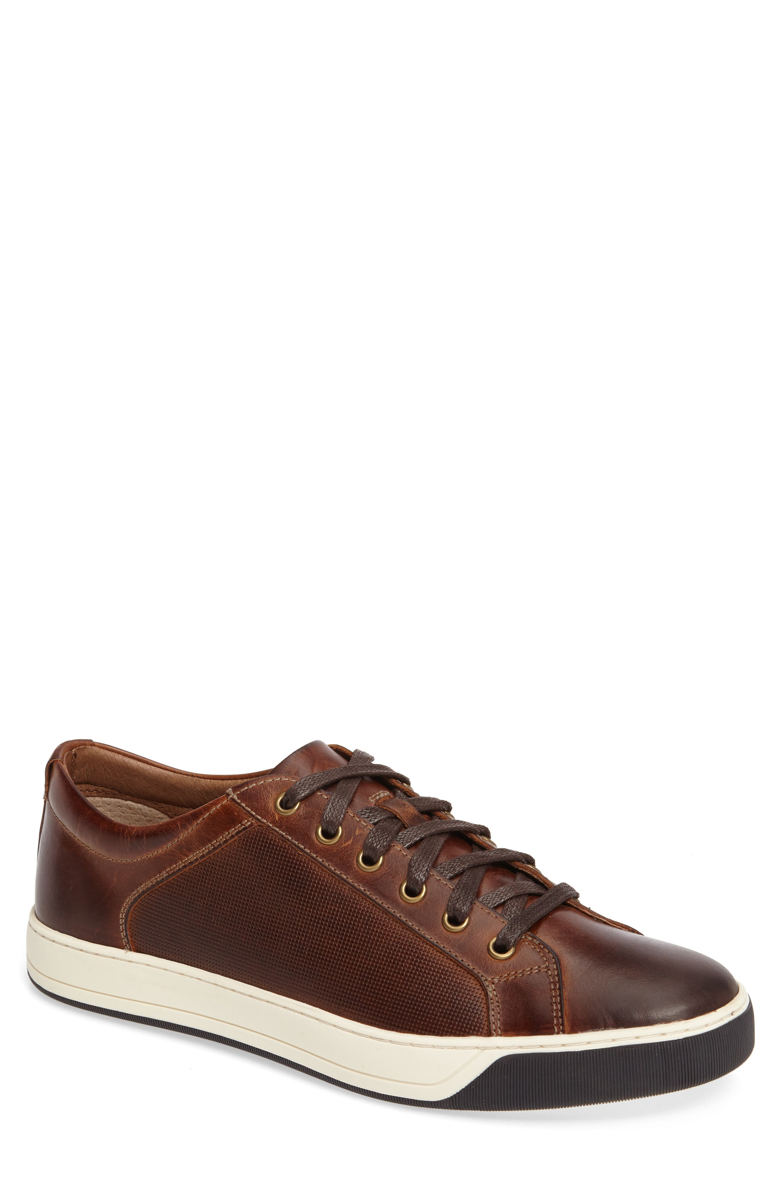 Allister Sneaker,                             Main thumbnail 1, color,                             BROWN LEATHER