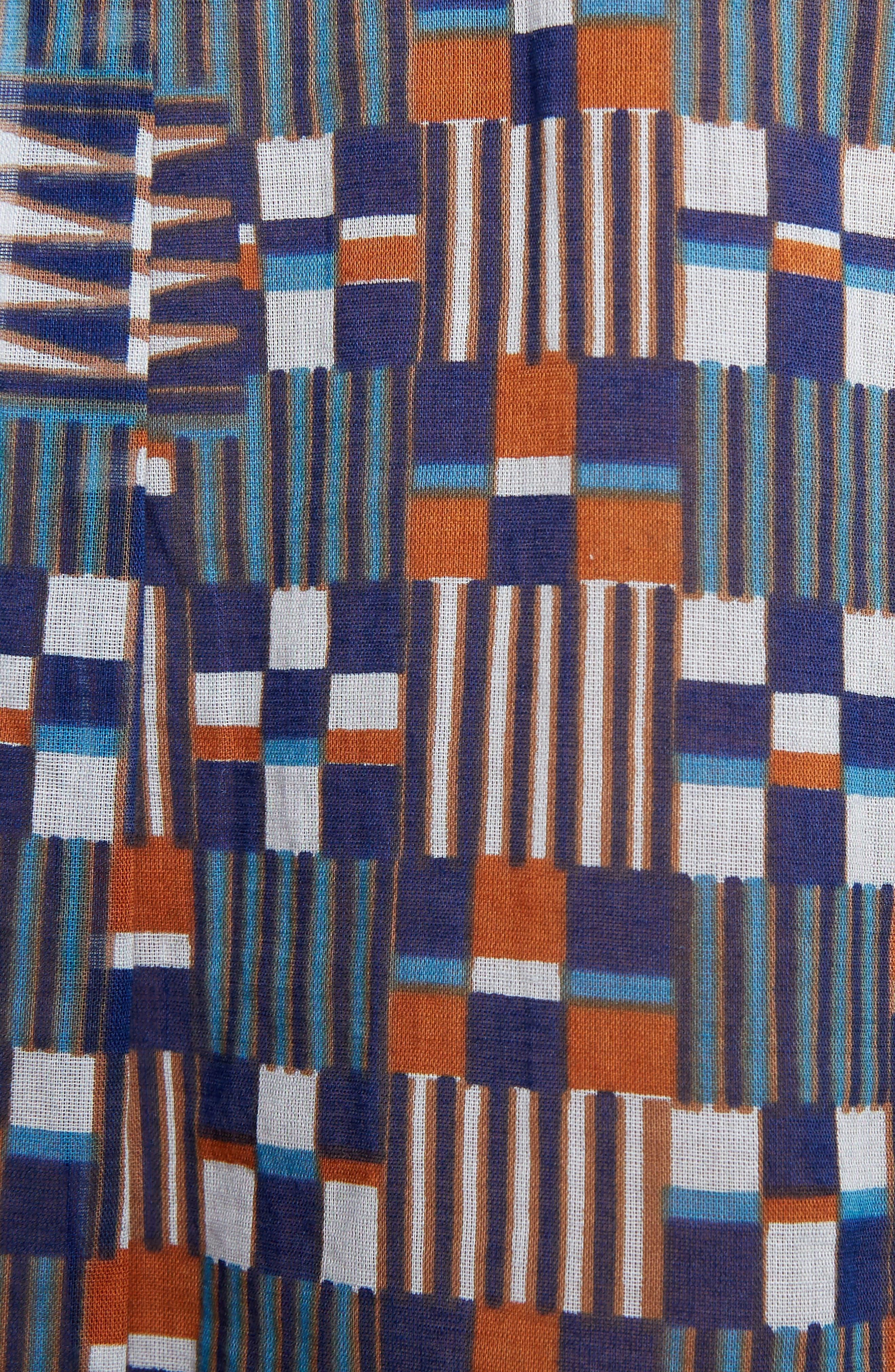 Isabel Marant Étoile Nahla Print Cotton Shirt,                             Alternate thumbnail 5, color,                             400