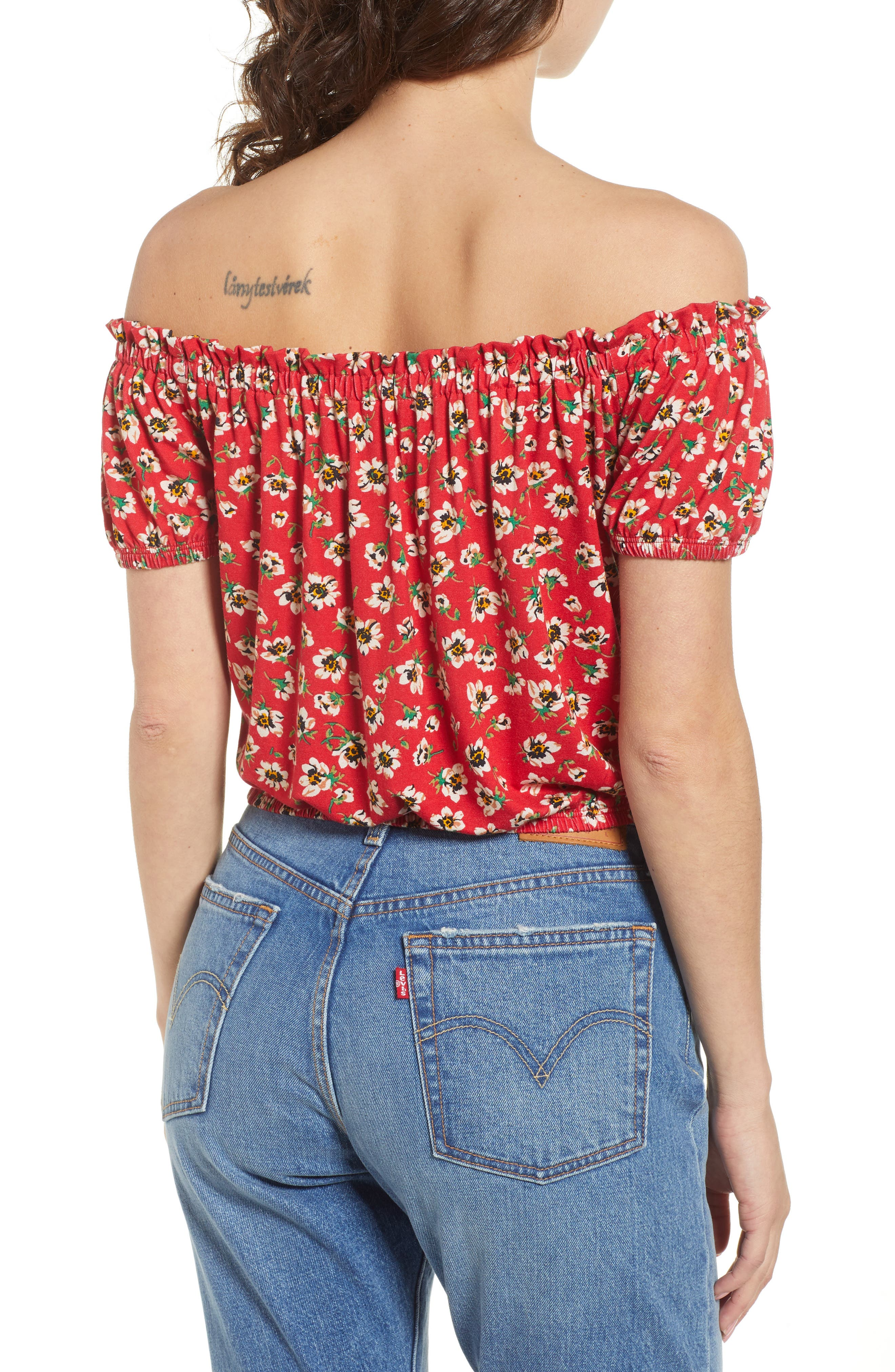 Floral Off the Shoulder Top,                             Alternate thumbnail 2, color,                             600