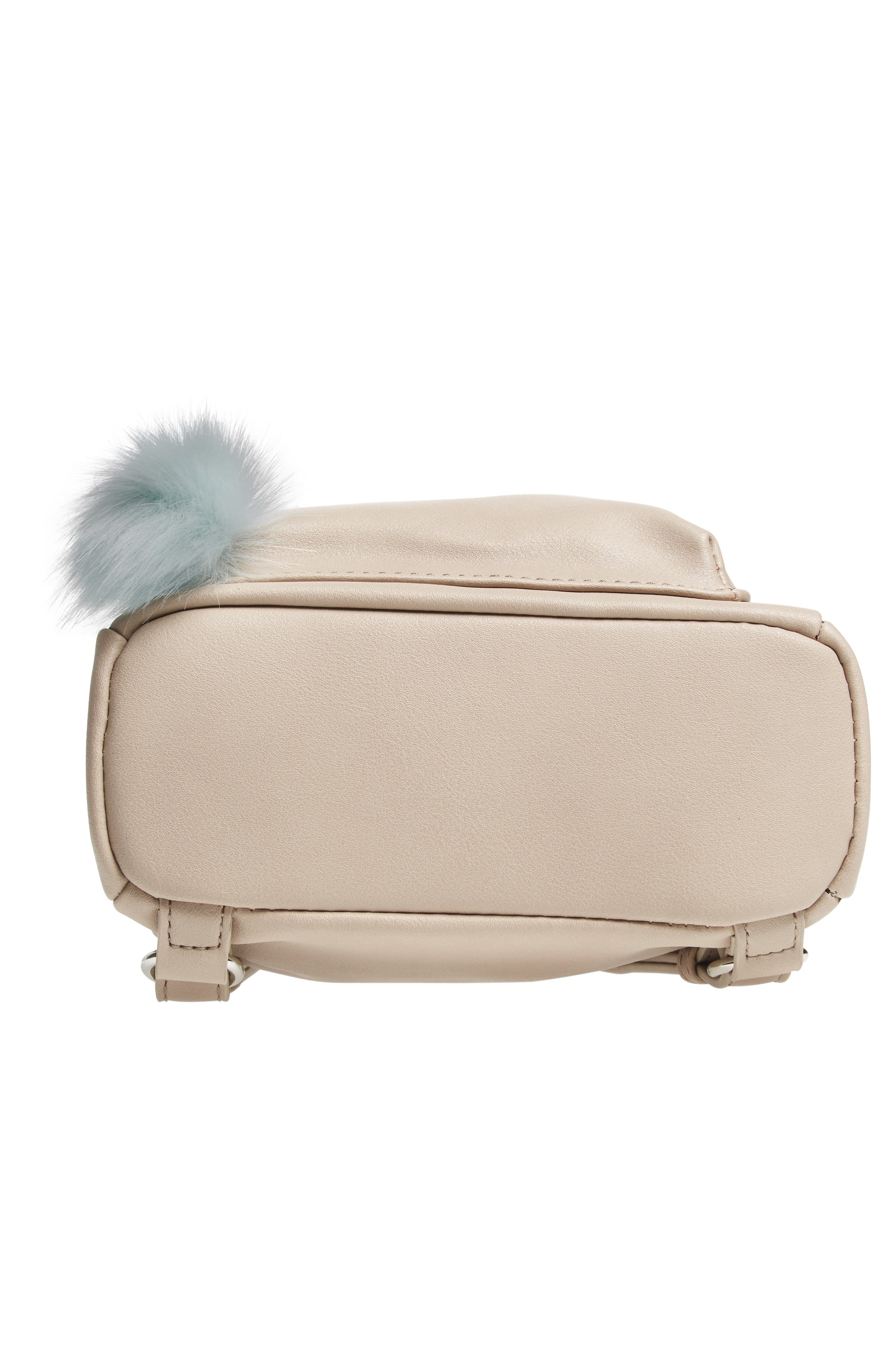Faux Leather Mini Backpack,                             Alternate thumbnail 47, color,